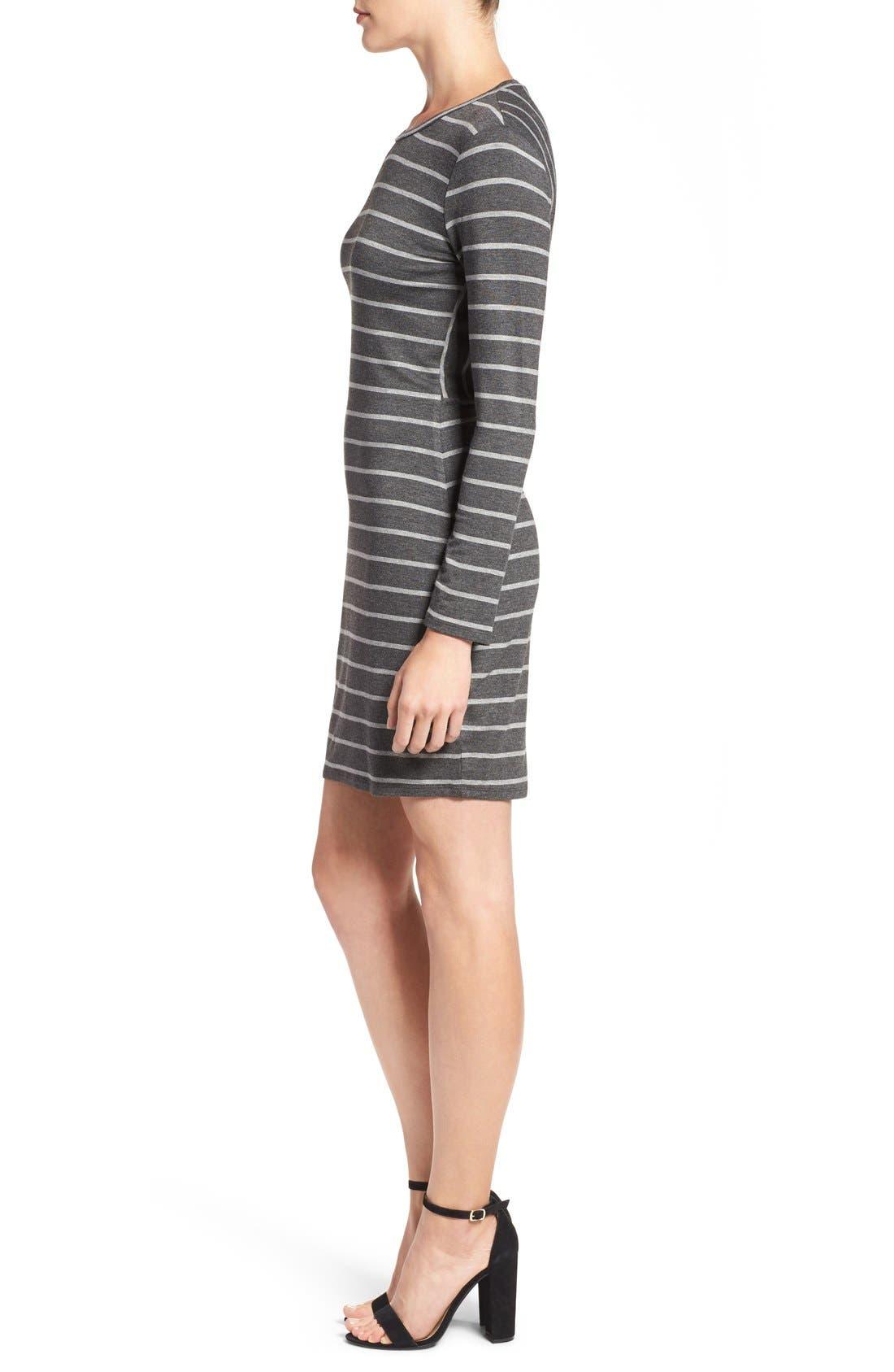 Alternate Image 3  - cupcakes and cashmere 'Malbec' Stripe Body-Con Dress