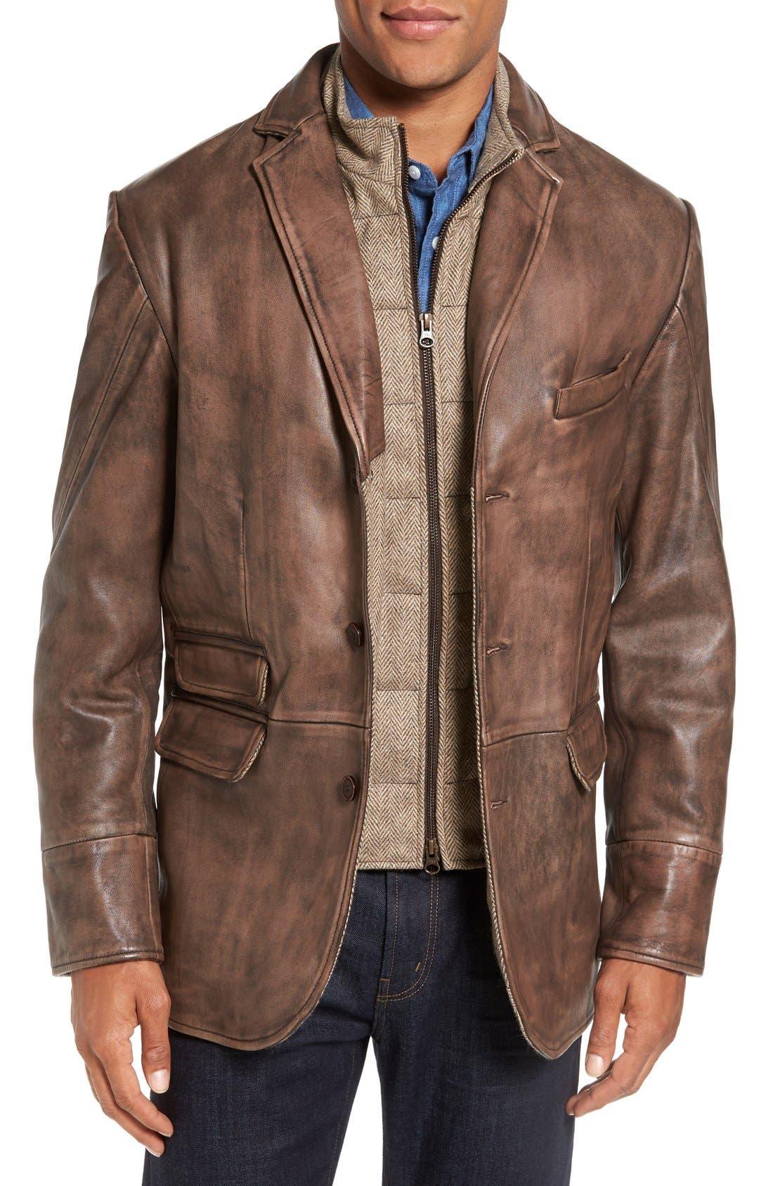 Flynt Leather Hybrid Sport Coat Nordstrom