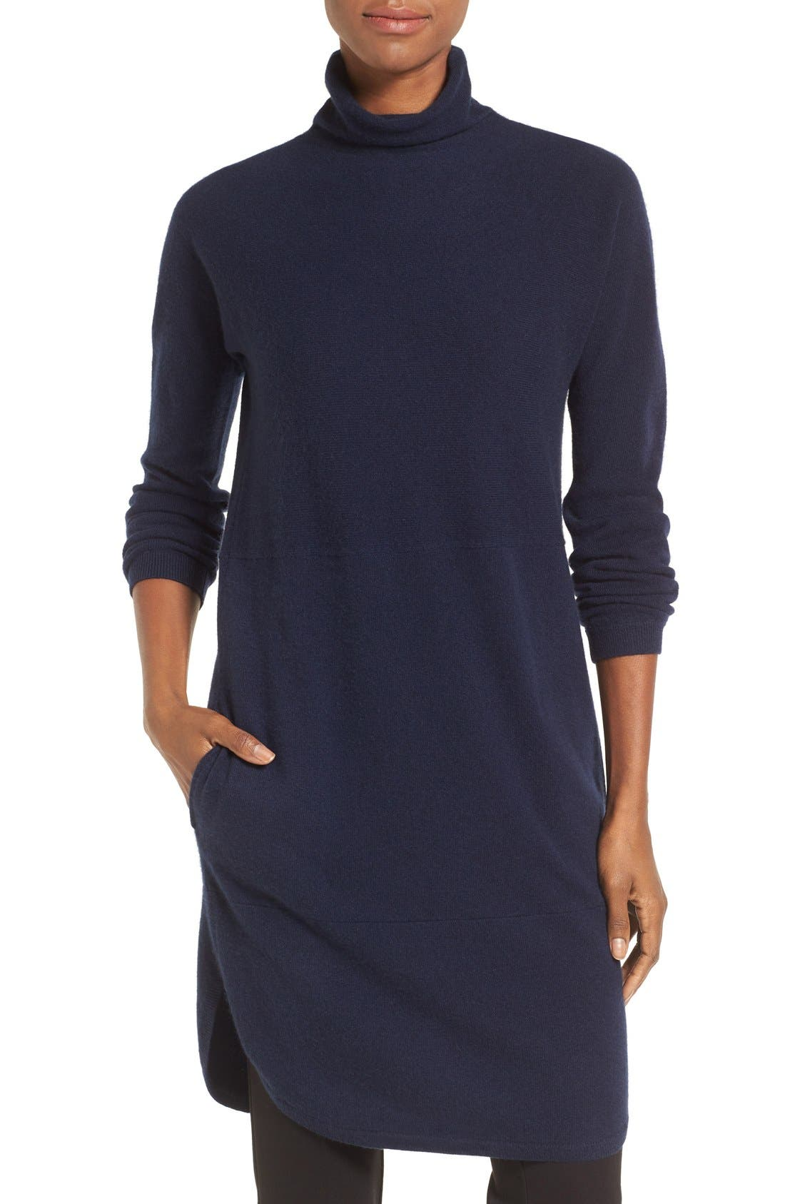 Alternate Image 1 Selected - Nordstrom Collection Funnel Neck Cashmere Tunic
