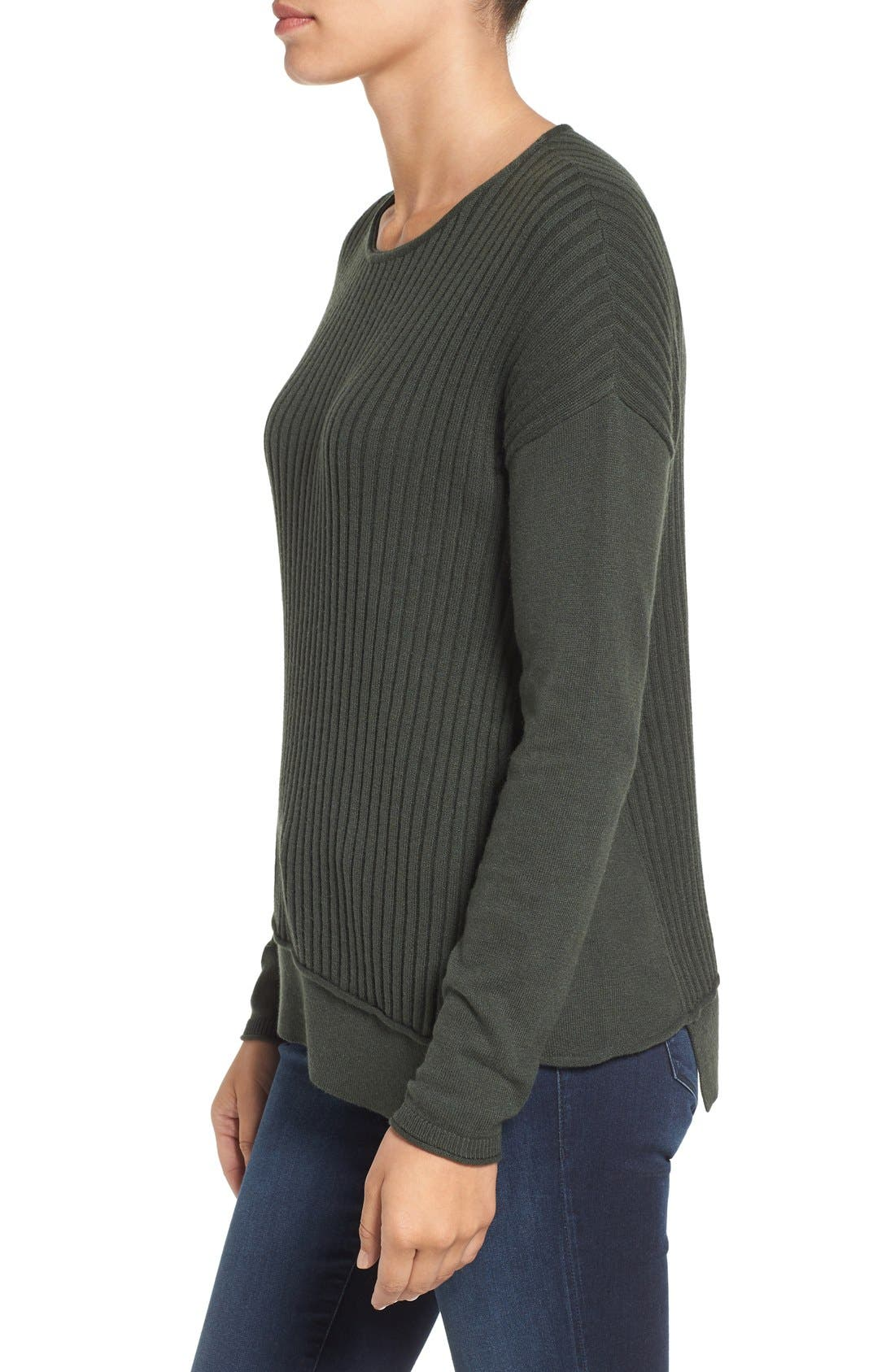 Alternate Image 3  - Caslon® Asymmetrical Ribbed Sweater
