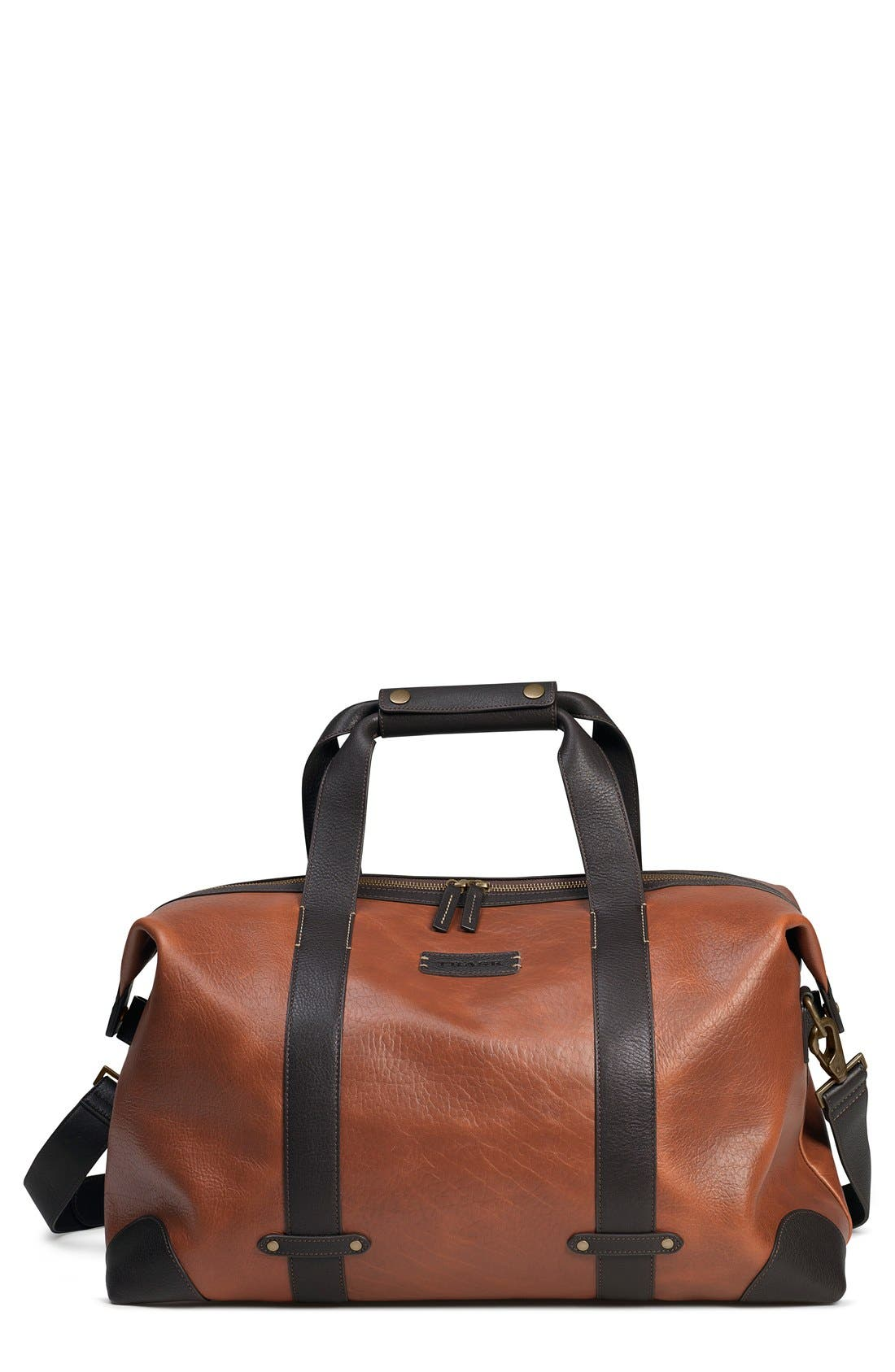 TRASK 'Jackson' Leather Duffel Bag