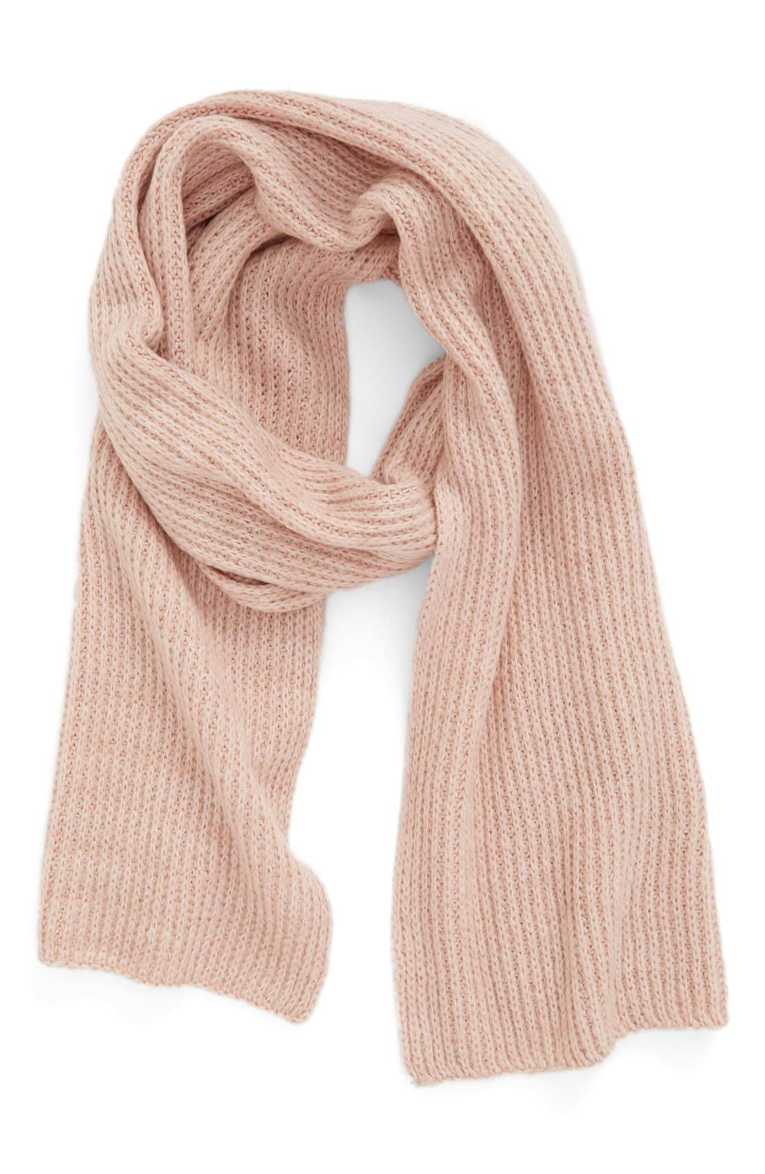 Alternate Image 1 Selected - Caslon® Rib Knit Scarf