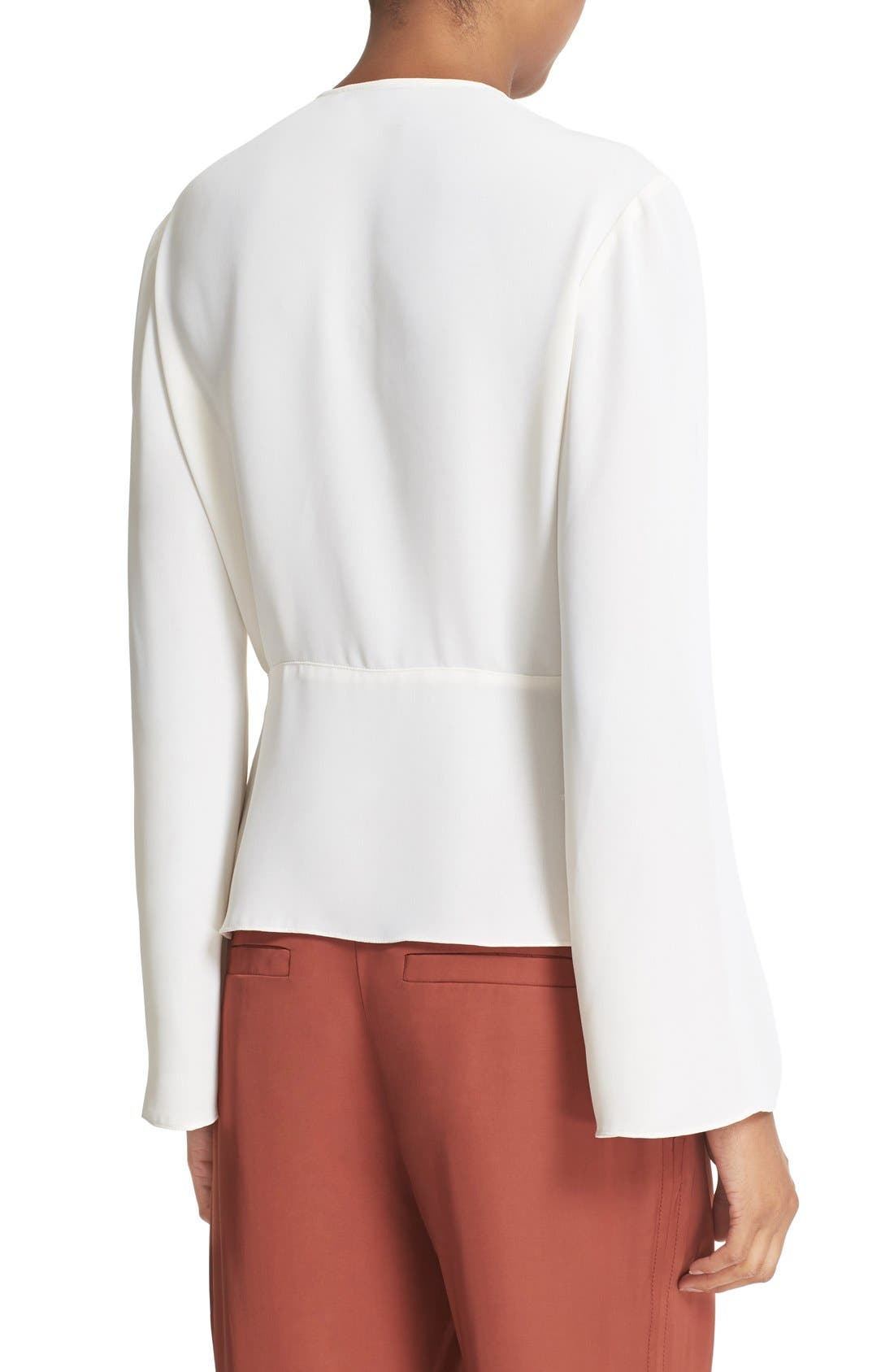 Alternate Image 2  - Elizabeth and James Layla Pleated Wrap Blouse