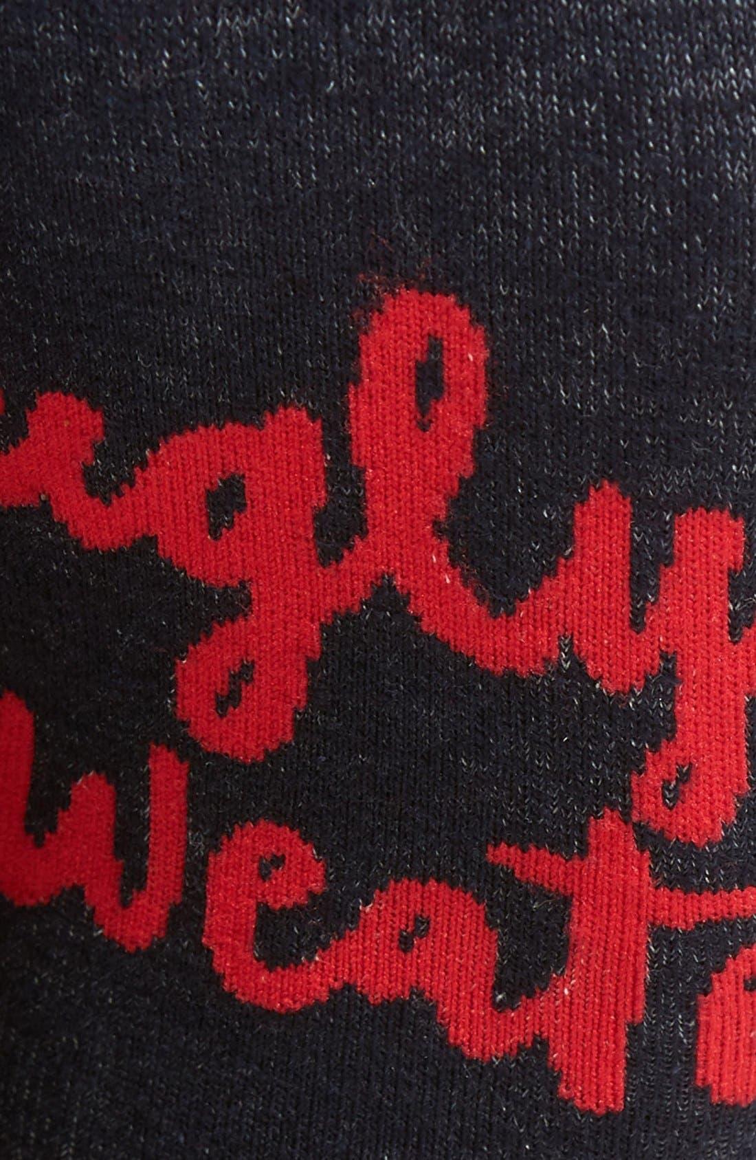 Alternate Image 3  - Woven Pear Ugly Sweater Socks