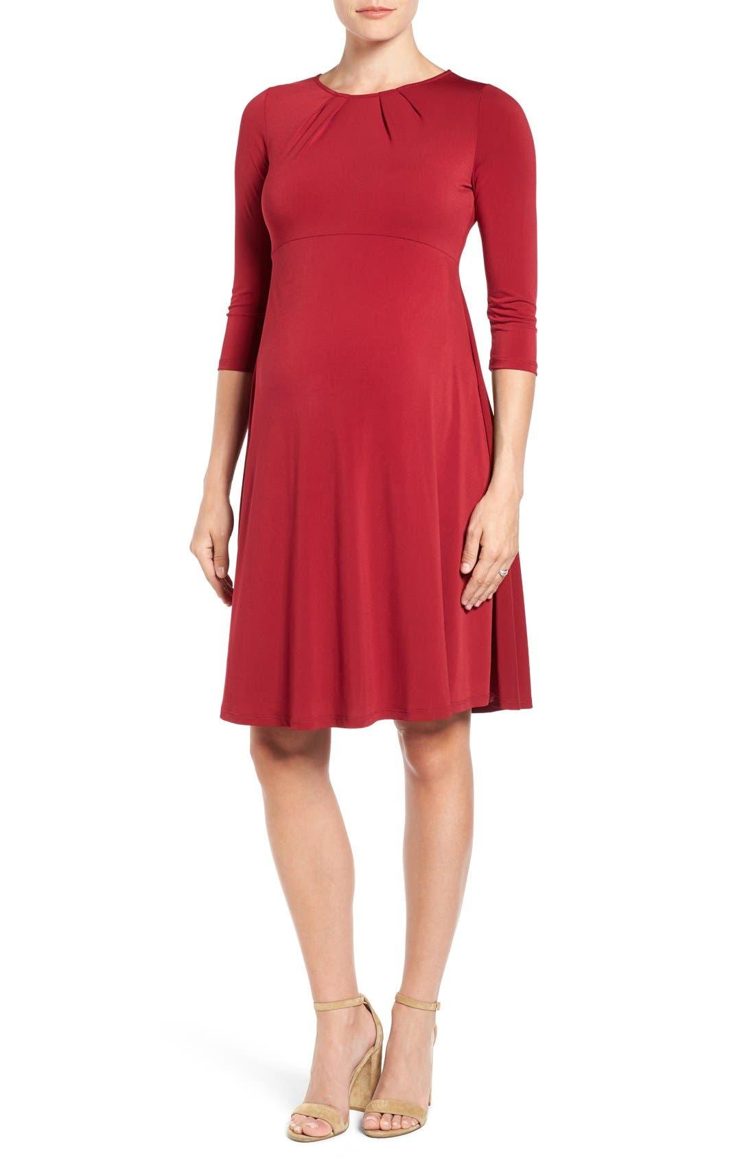 LEOTA 'Simone' Empire Waist Jersey Maternity Dress
