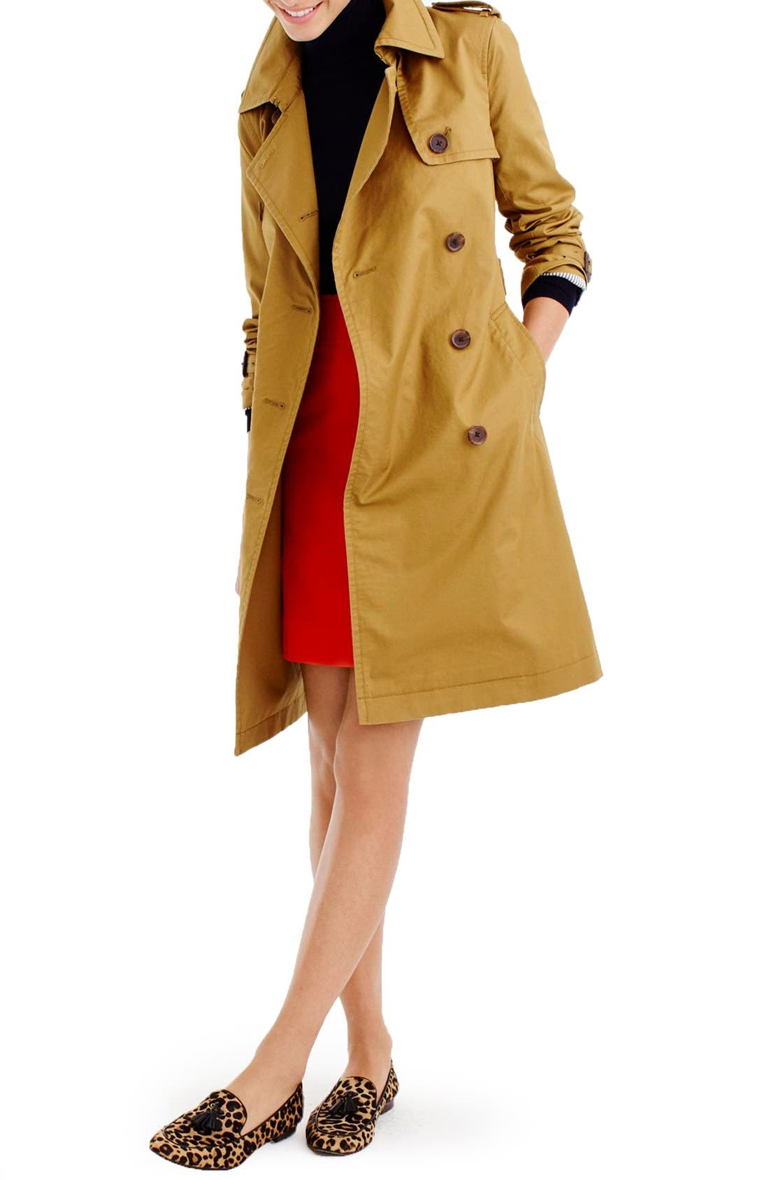 Alternate Image 1 Selected - J.Crew City Trench Coat