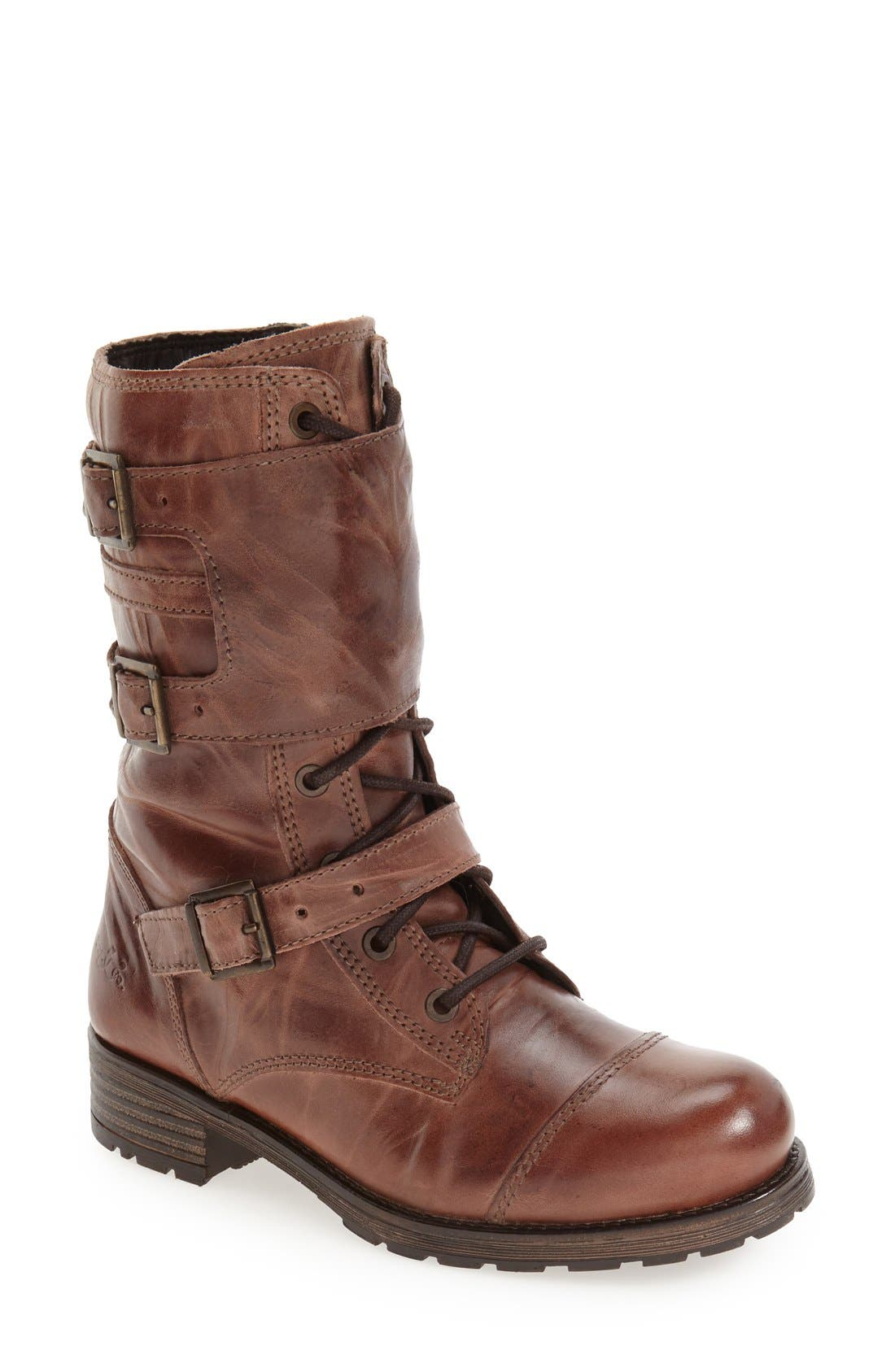 Bos. & Co. 'Irena' Waterproof Moto Boot (Women)