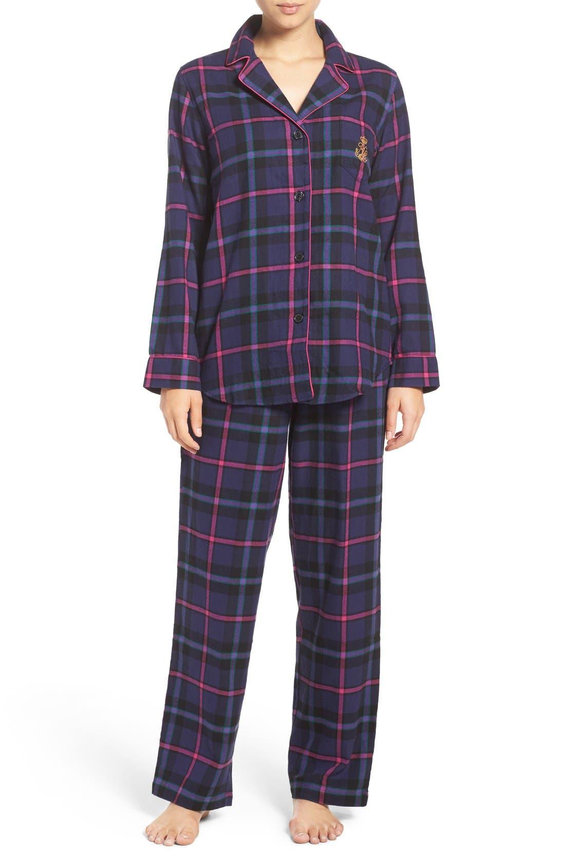 Alternate Image 1 Selected - Lauren Ralph Lauren Twill Pajamas