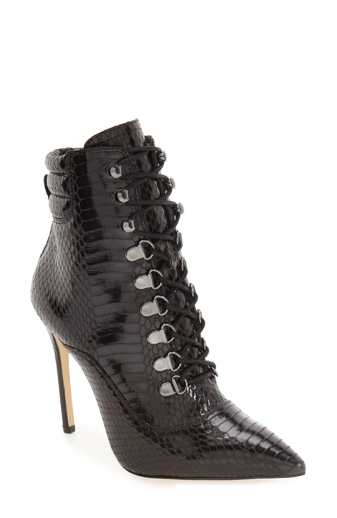 Main Image - Daya by Zendaya 'Kettle' Corset Lace Pointy Toe Boot