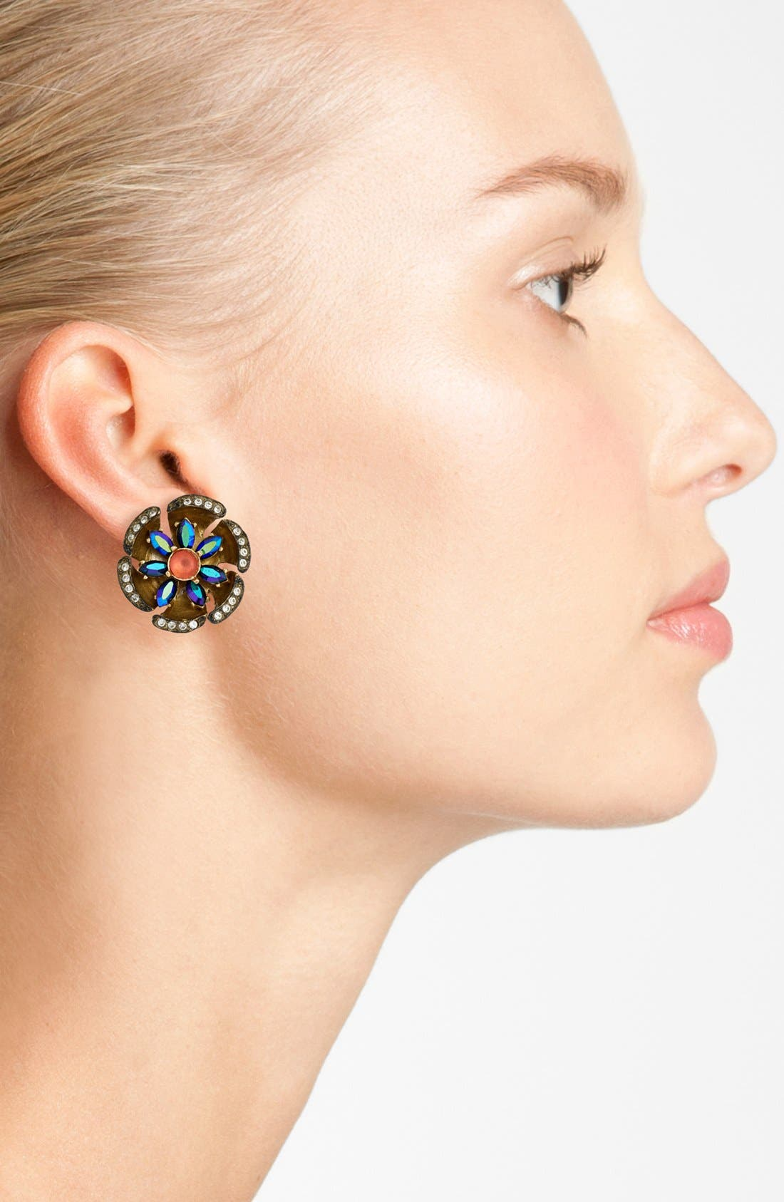 Alternate Image 2  - Loren Hope 'Anthea' Crystal Stud Earrings
