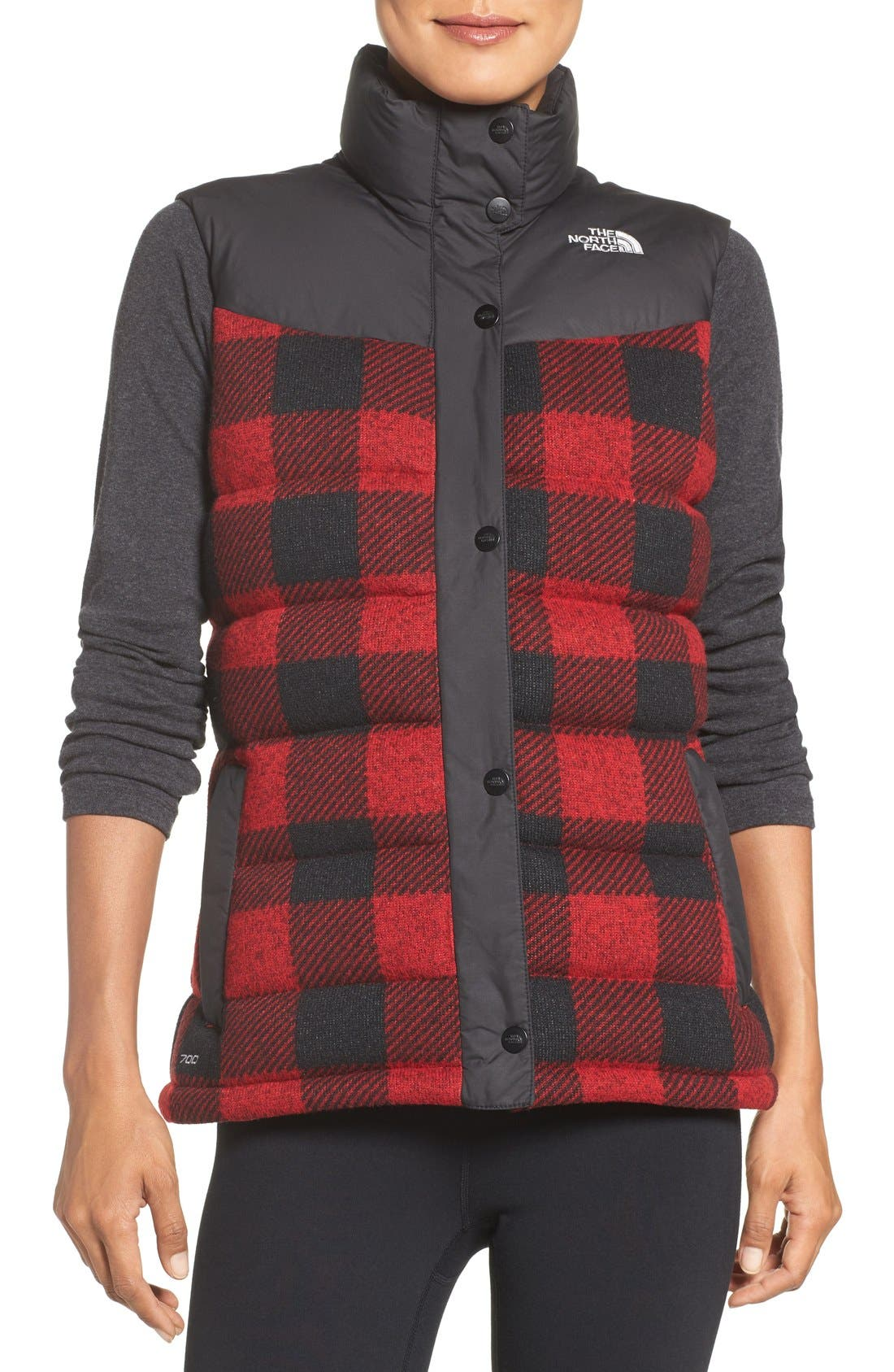 Alternate Image 1 Selected - The North Face Nuptse Plaid Down Vest