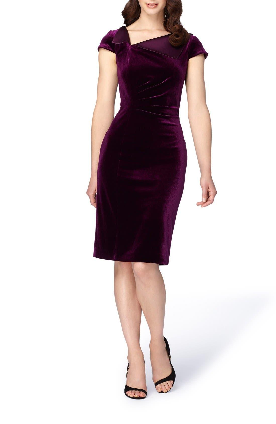 Alternate Image 3  - Tahari Velvet Sheath Dress
