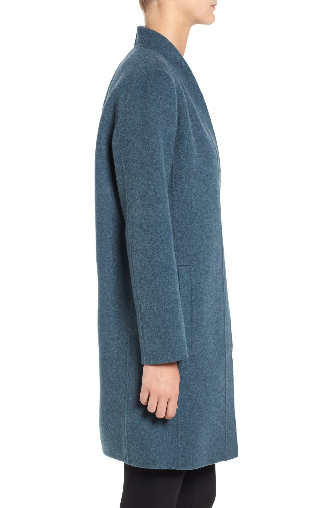 Alternate Image 3  - Eileen Fisher Double Face Brushed Wool Blend Kimono Jacket