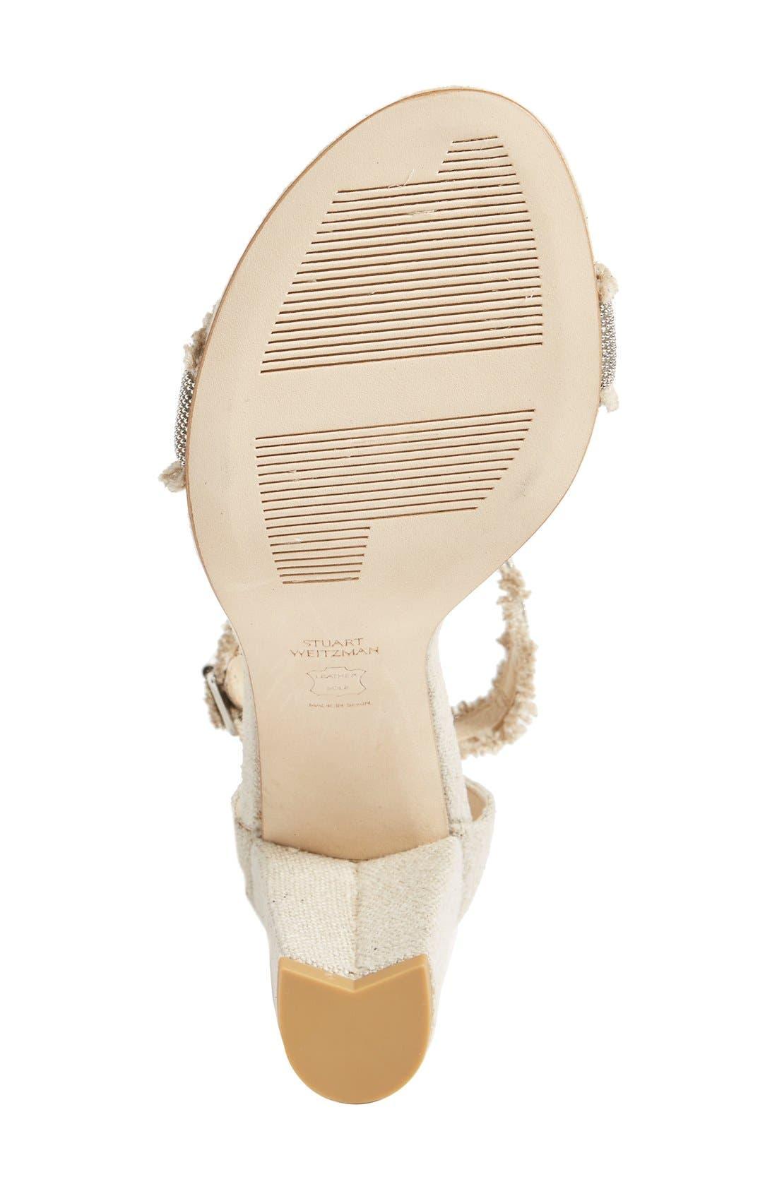 Alternate Image 4  - Stuart Weitzman 'Chaingang' Ankle Strap Sandal (Women)