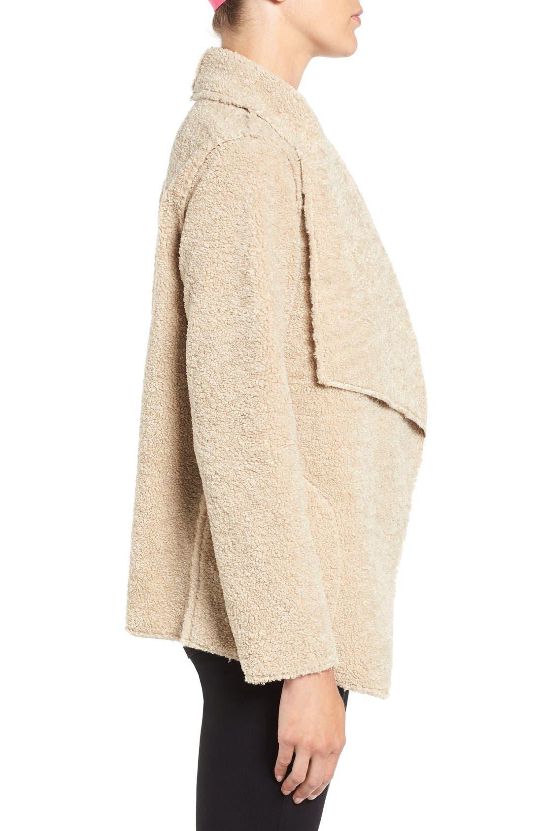Alternate Image 3  - Velvet by Graham & Spencer 'Lux' Reversible Faux Shearling Drape Front Jacket