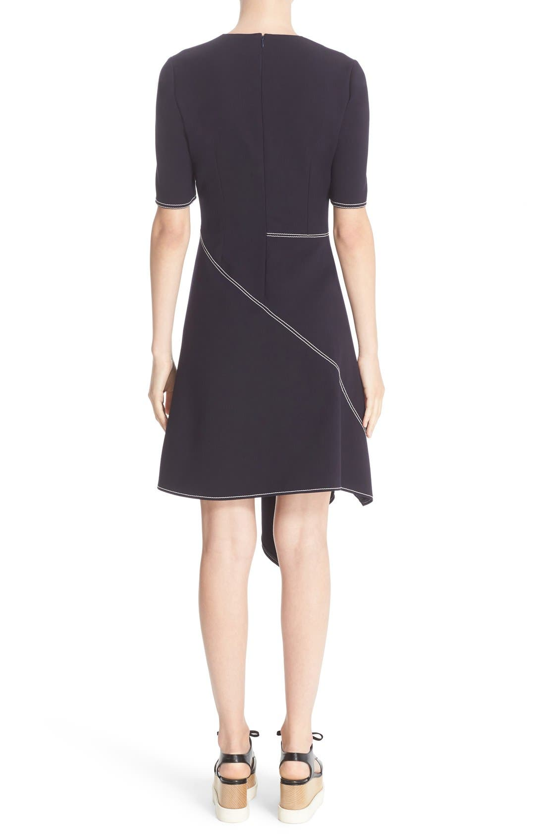 Alternate Image 2  - Stella McCartney Topstitch Asymmetrical Dress