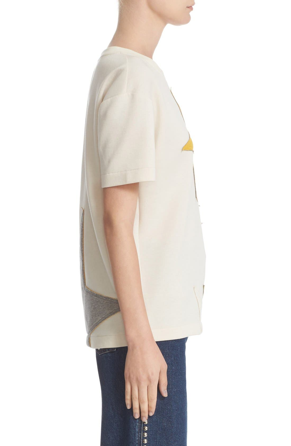 Alternate Image 5  - Stella McCartney Star Appliqué Jersey Tee