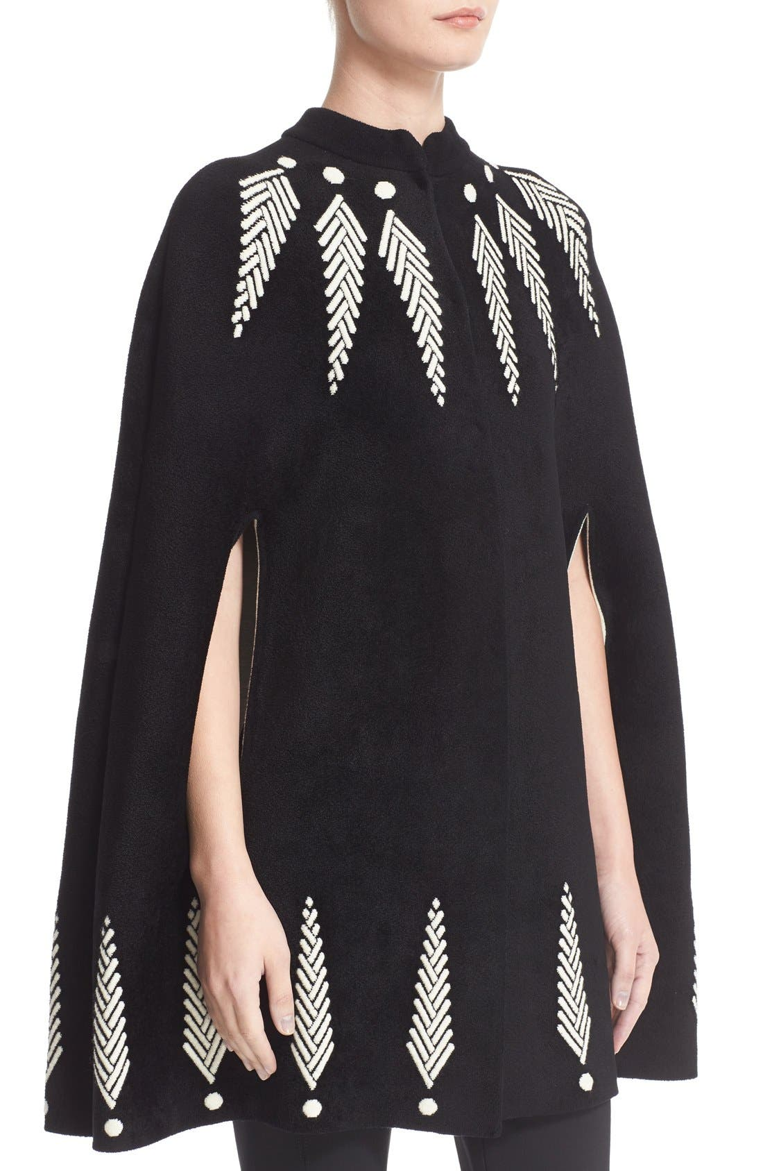 Alternate Image 6  - Alexander McQueen Feather Knit Cape