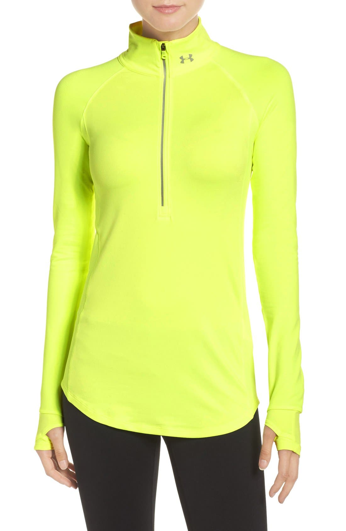 Alternate Image 1 Selected - Under Armour 'Layered Up' Water Resistant Half-Zip Top