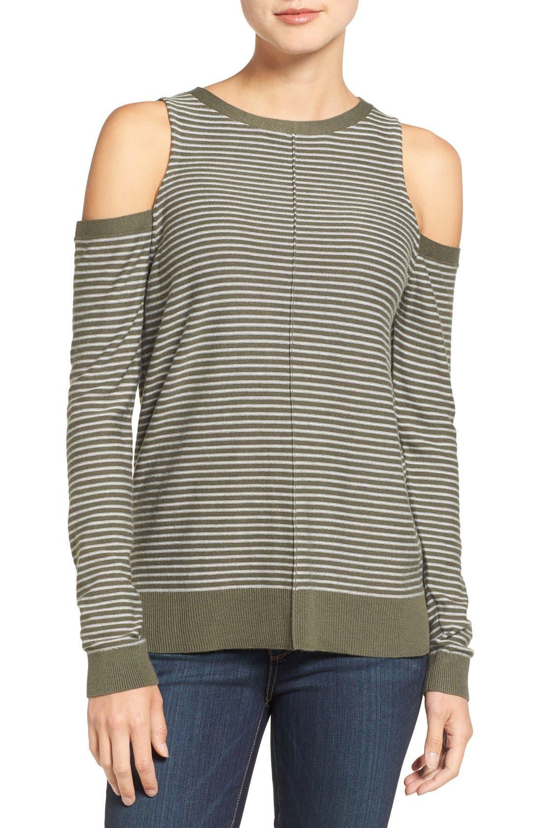 Main Image - Trouvé Cold Shoulder Sweater
