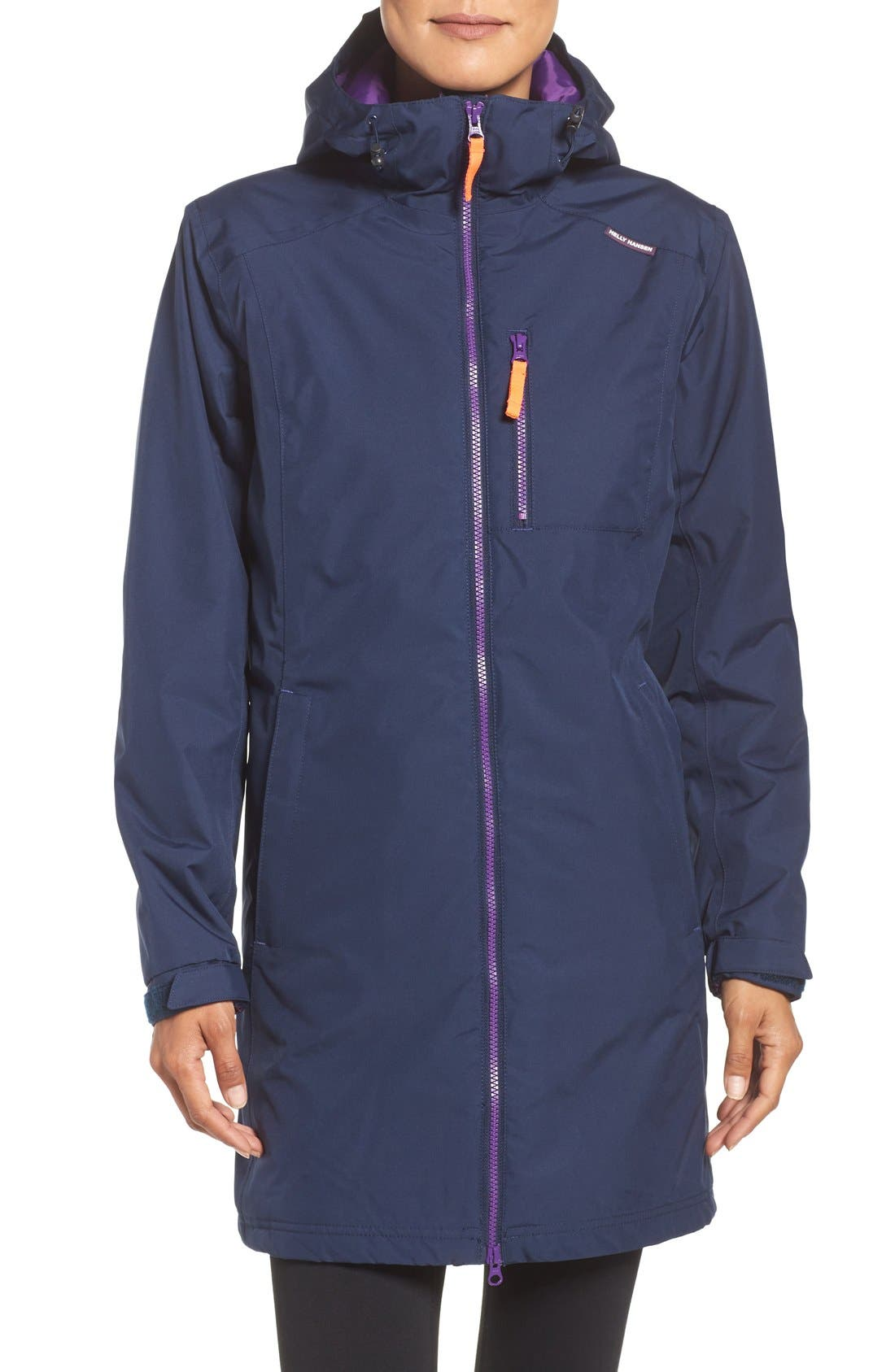 Helly Hansen 'Belfast' Long Waterproof Winter Rain Jacket