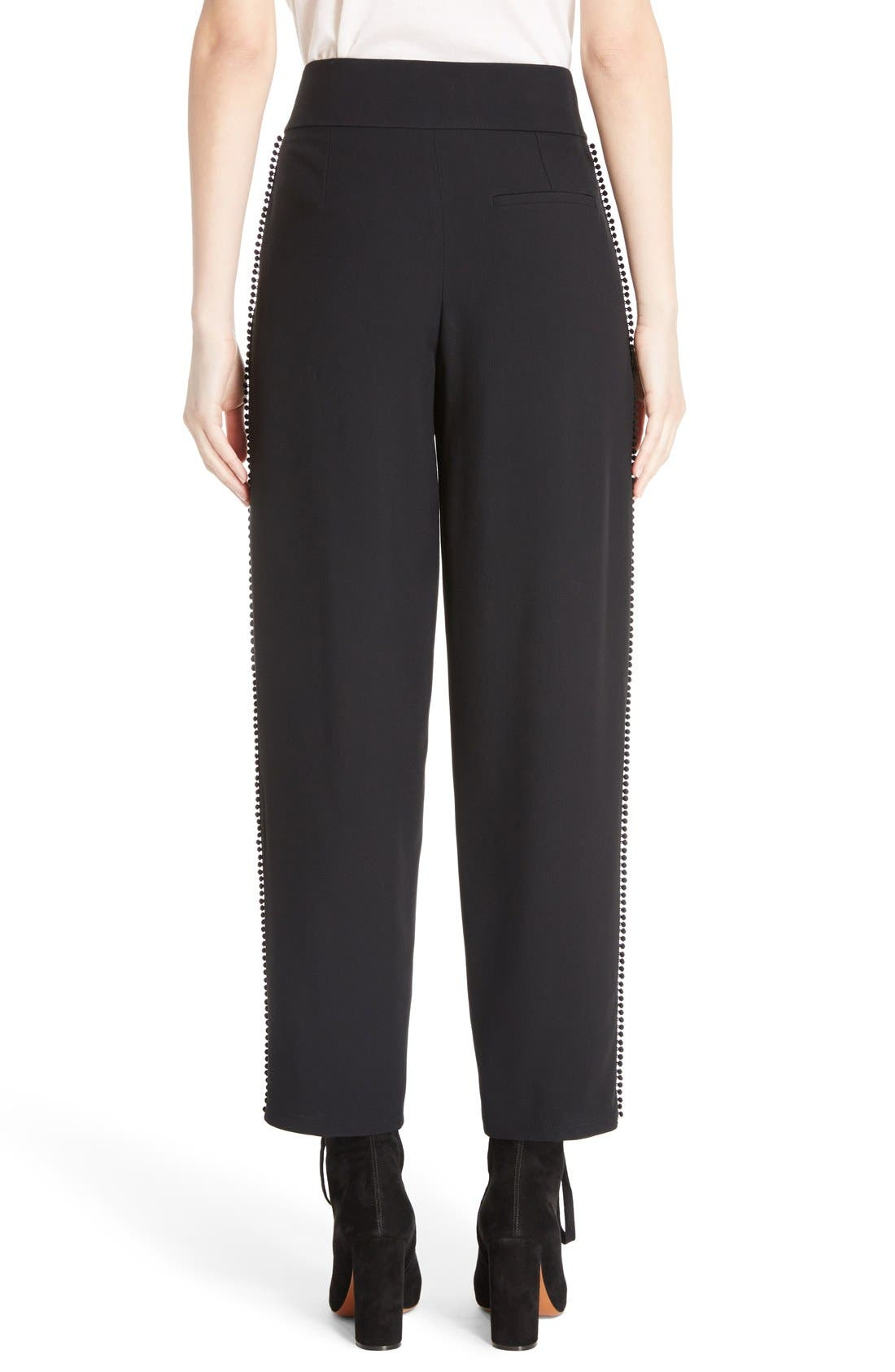 Alternate Image 2  - Chloé Pompom Side Stripe Pants