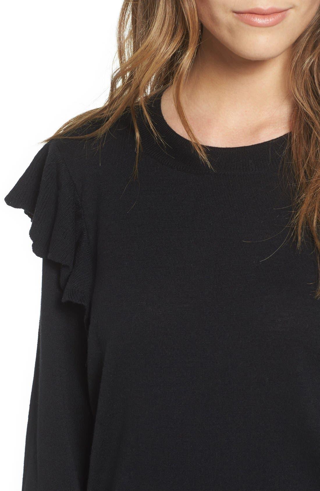 Alternate Image 4  - BP. Knit Ruffle Sleeve Pullover