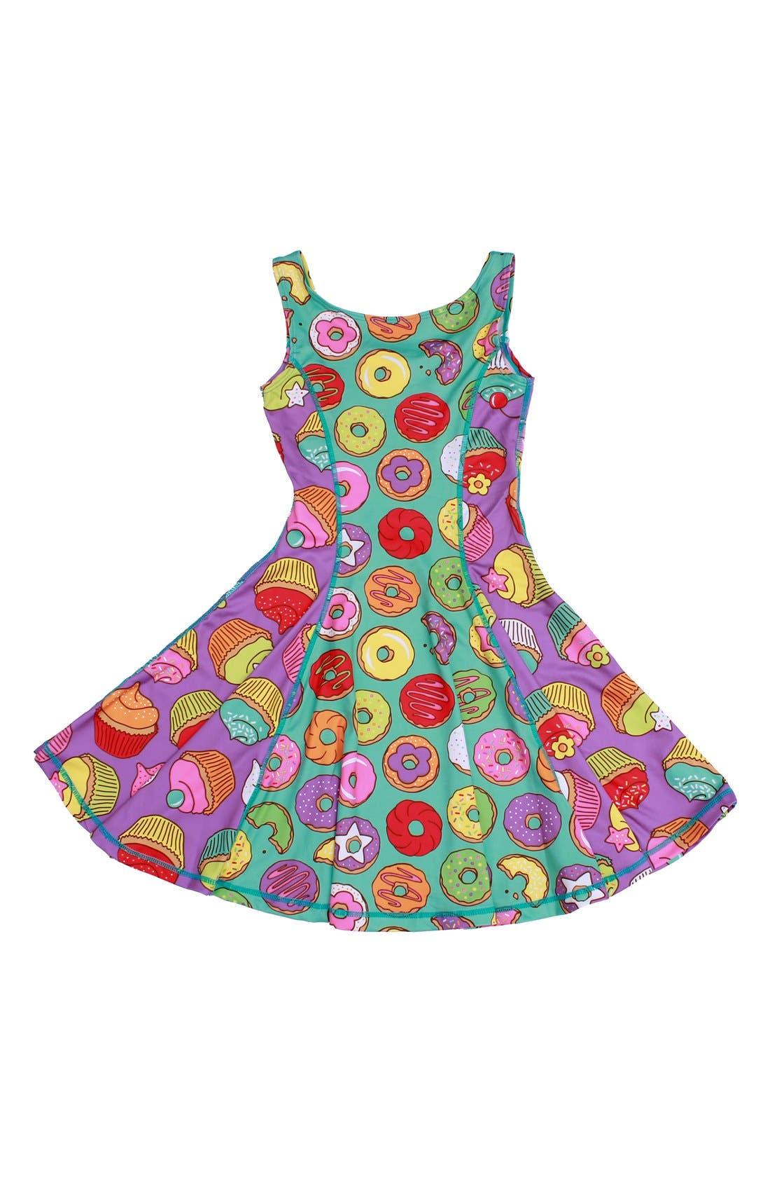 CHOOZE Flow Mixed Print Dress (Little Girls & Big Girls)