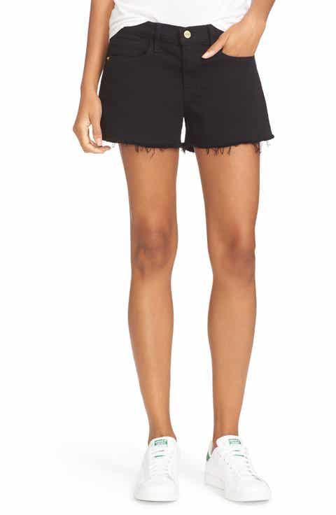 Black Denim Shorts for Women   Nordstrom
