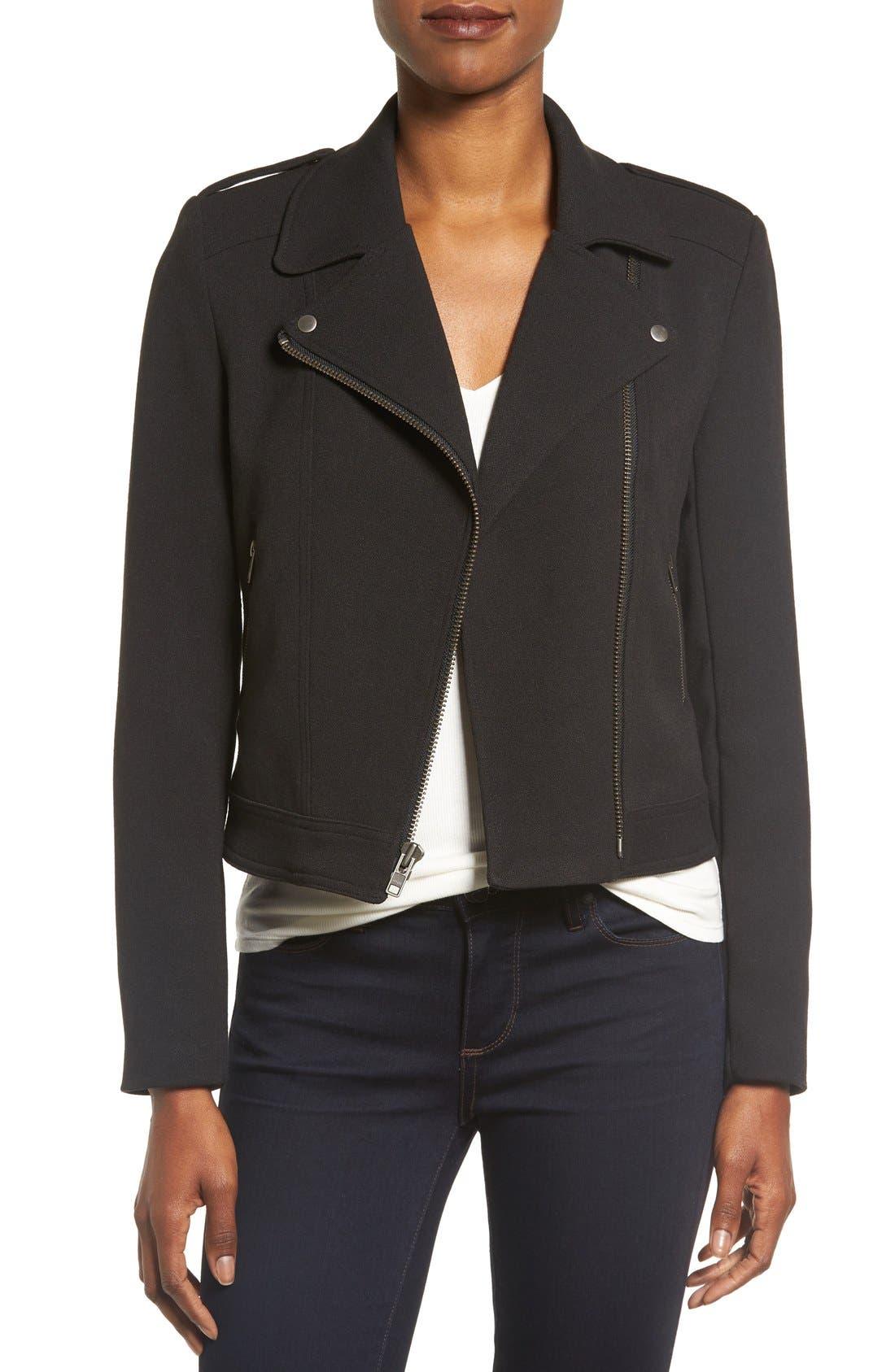 Alternate Image 1 Selected - Catherine Catherine Malandrino Knit Moto Jacket