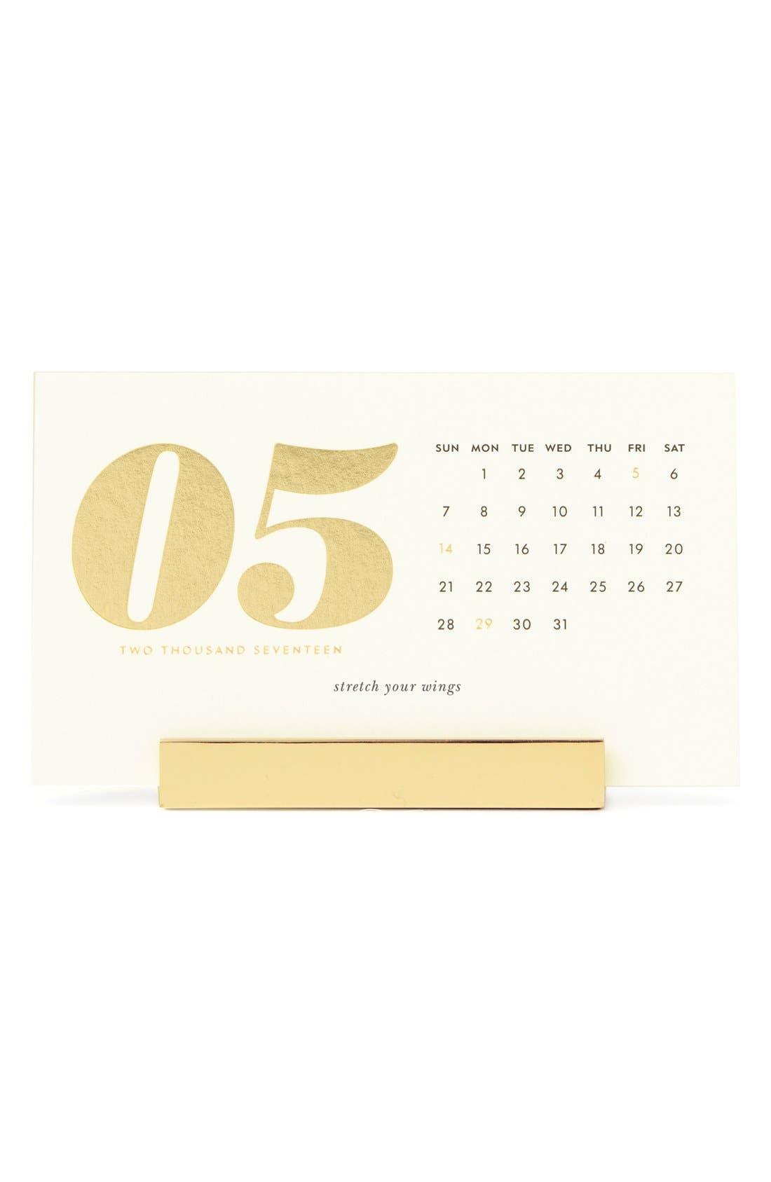 Alternate Image 1 Selected - kate spade new york 2017 desk calendar