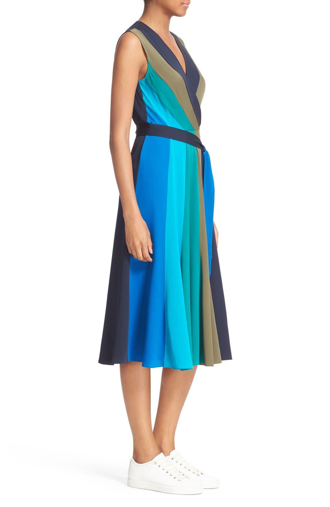 Alternate Image 3  - Diane von Furstenberg Penelope Colorblock Wrap Fit & Flare Dress