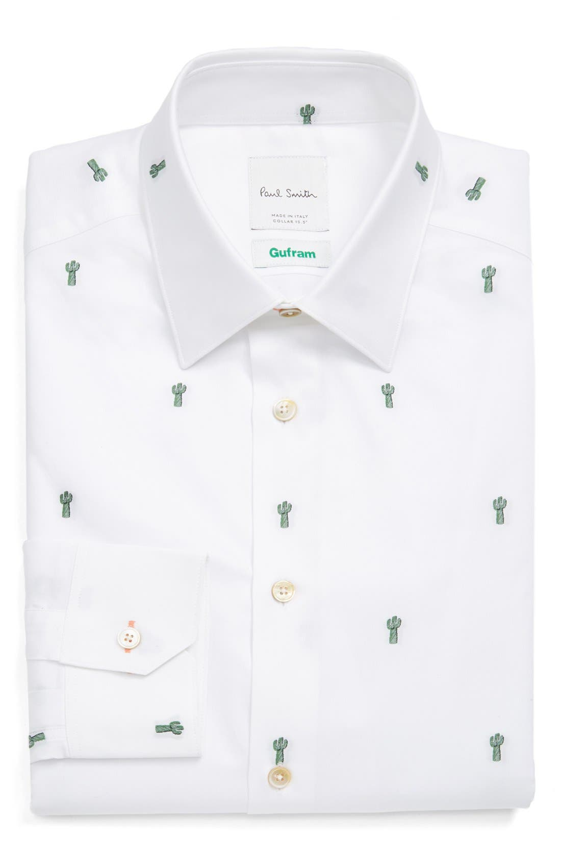 PAUL SMITH LONDON Extra Trim Fit Embroidered Cactus