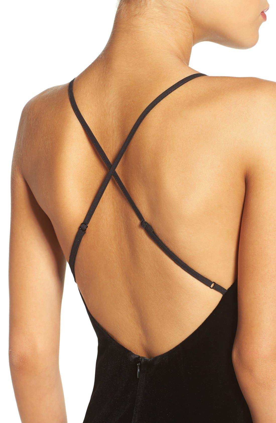 Alternate Image 4  - Bardot Raven Velvet Slipdress