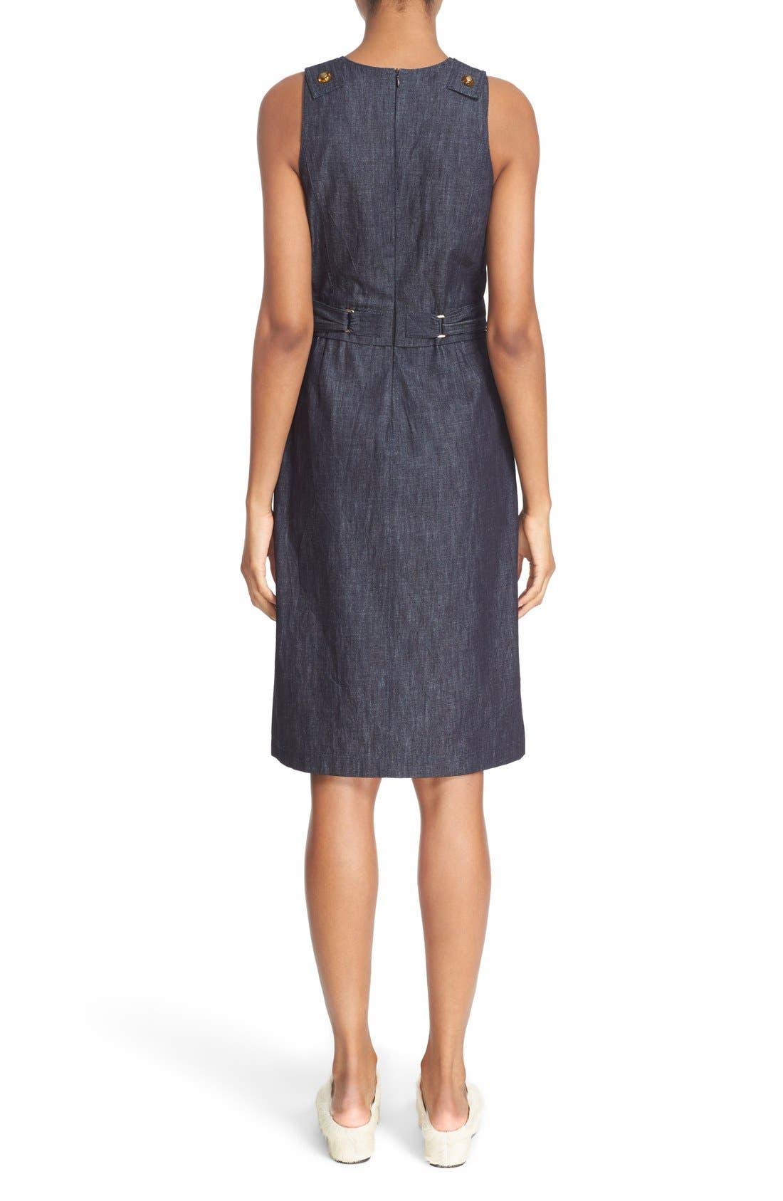 Alternate Image 2  - Tomas Maier Belted Denim Dress