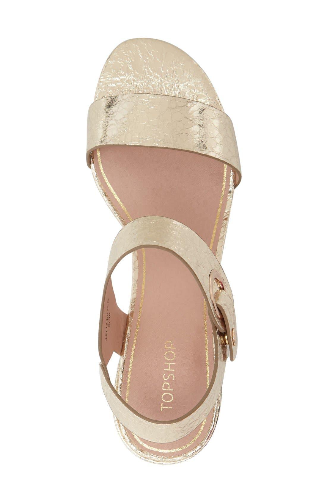 Alternate Image 3  - Topshop 'Dart' Block Heel Sandal (Women)