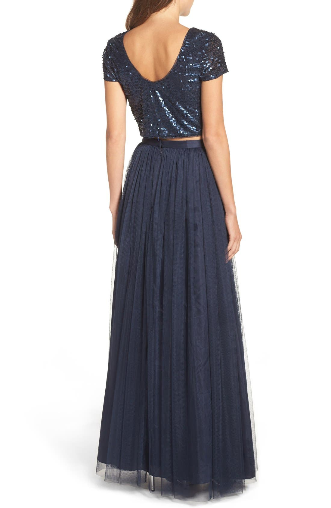 Alternate Image 2  - Adrianna Papell Embellished Two Piece Gown