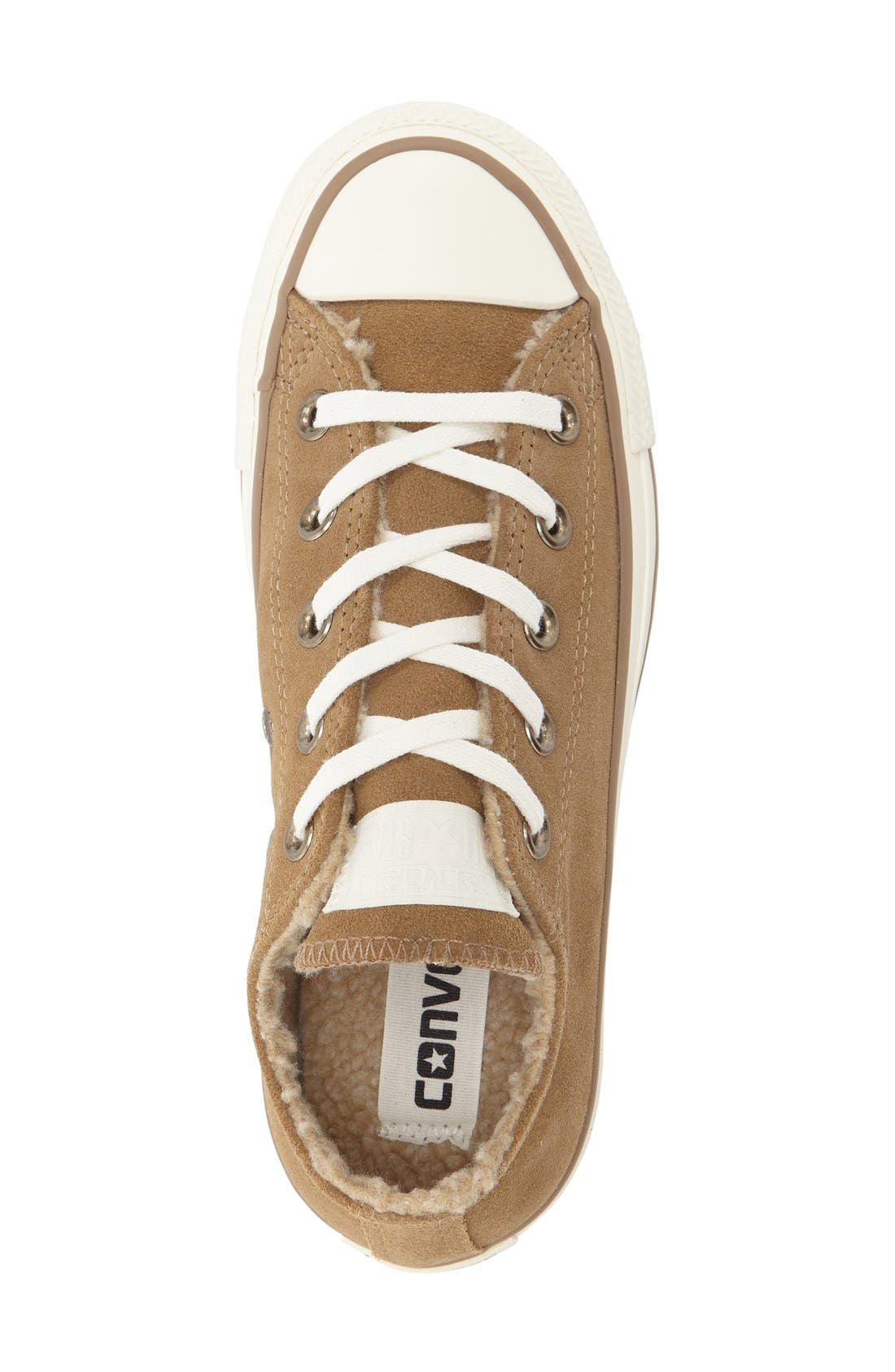Alternate Image 3  - Converse Chuck Taylor® All Star® Faux Shearling Lined Low Top Sneaker (Women)