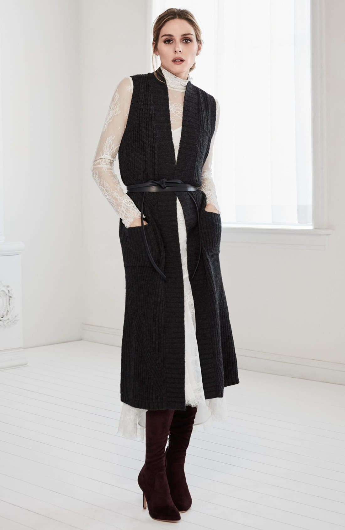 Alternate Image 2  - Olivia Palermo + Chelsea28 Long Sweater Vest