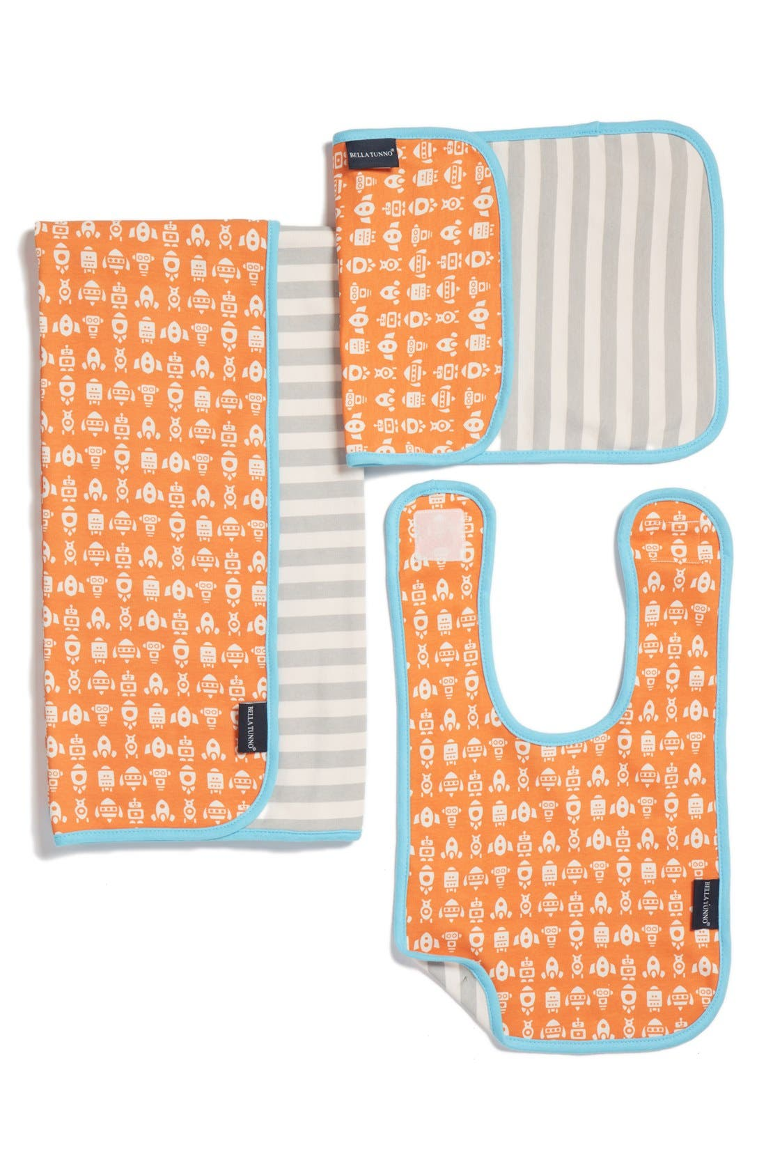 BELLA TUNNO Bib, Burpie Cloth & Play Mat