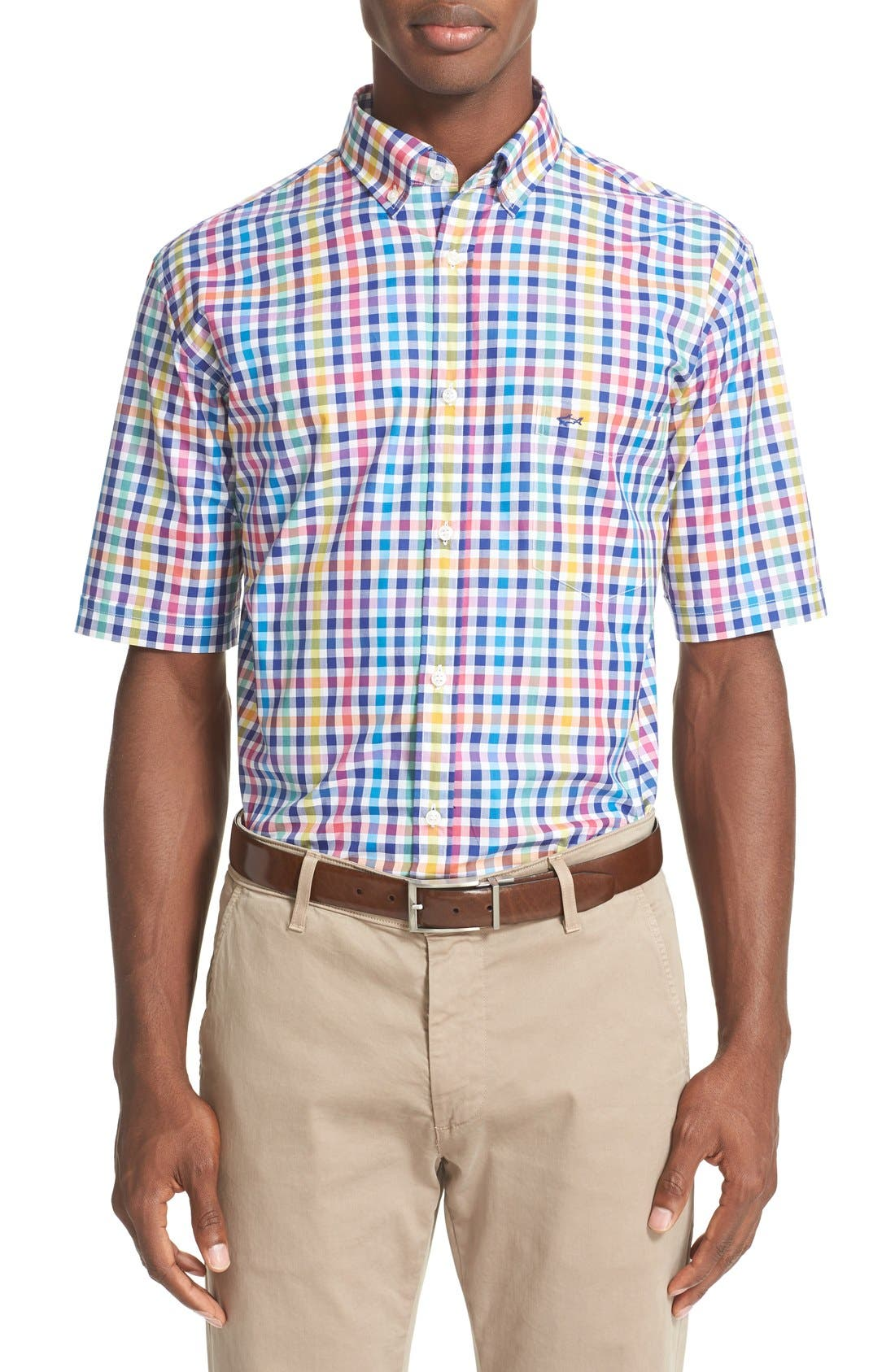 PAUL & SHARK Regular Fit Plaid Short Sleeve