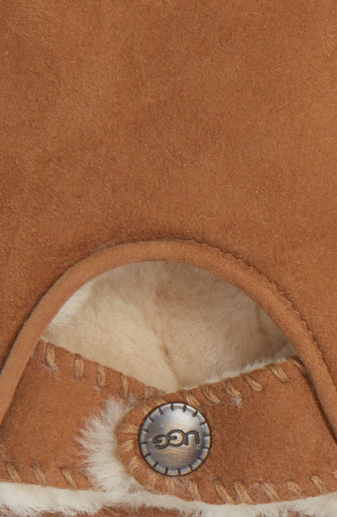 Alternate Image 2  - UGG® McKay Genuine Shearling Fingerless Driving Gloves