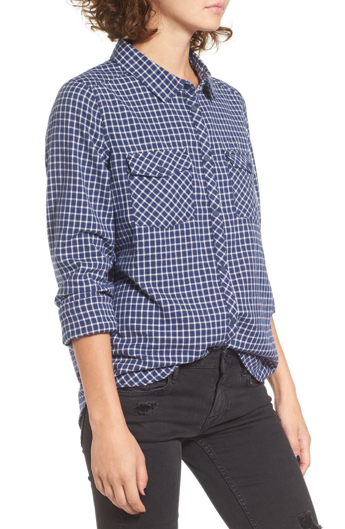 Alternate Image 3  - Roxy Squary Cool Plaid Flannel Shirt