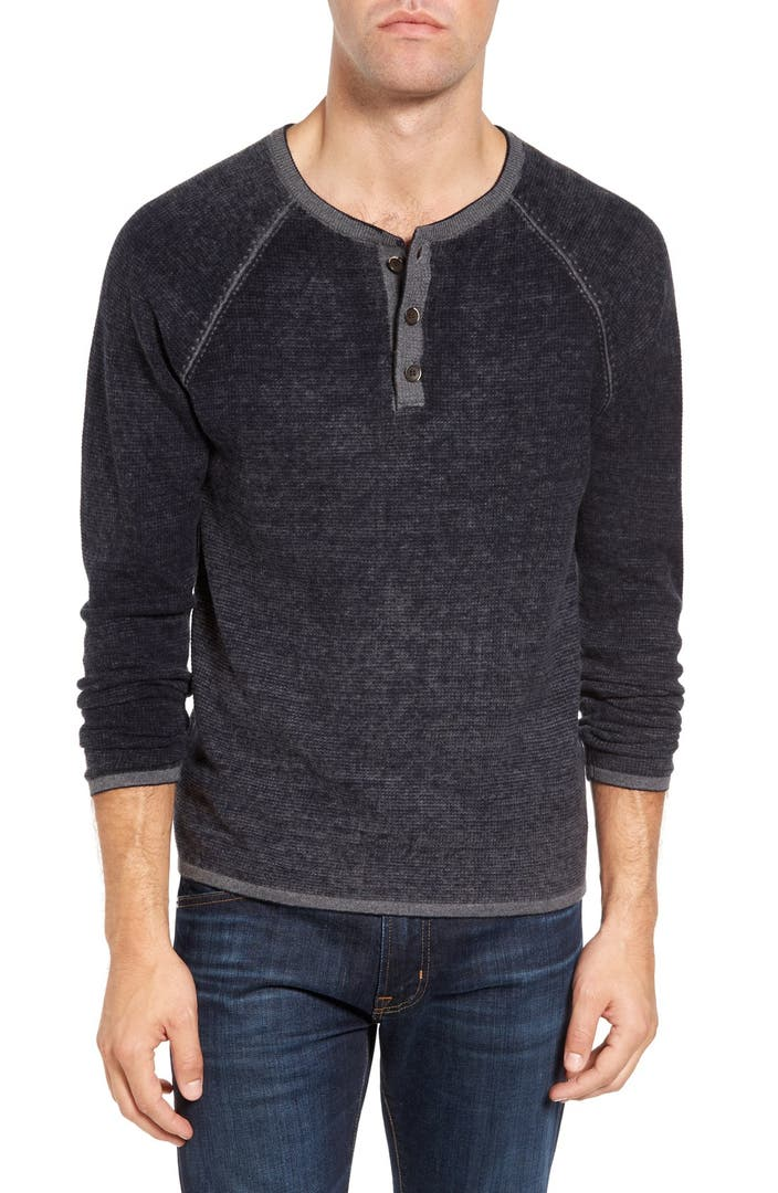 Tailor Vintage Waffle Knit Henley Sweater Nordstrom