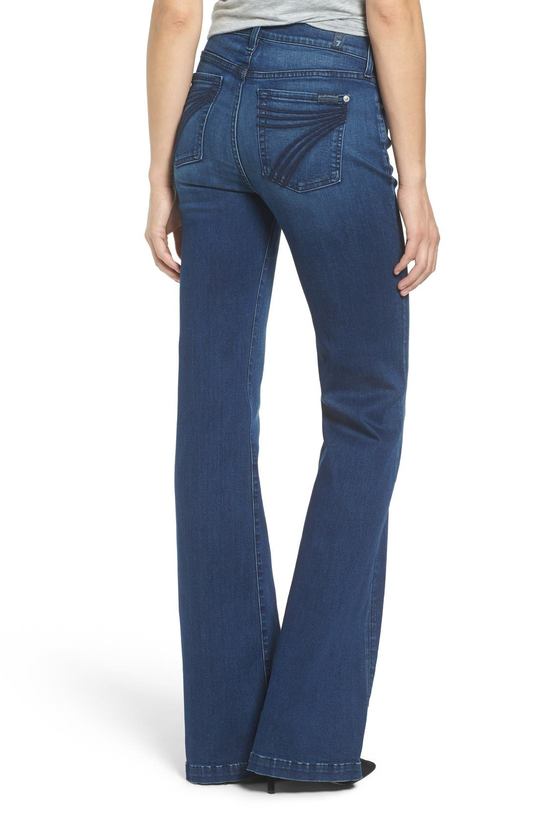 Alternate Image 2  - 7 For All Mankind Tailorless Dojo Flare Jeans (Slim Illusion Luxe Luminous)