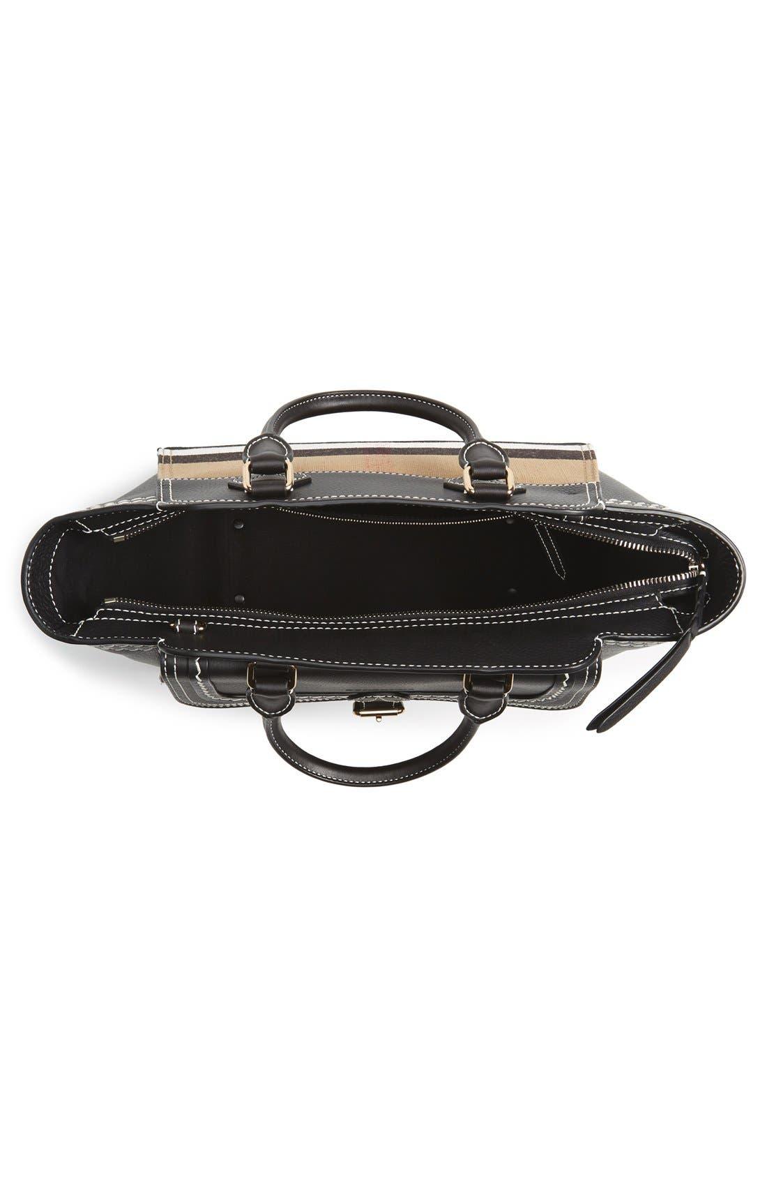Alternate Image 3  - Burberry Medium Harcourt Check & Leather Tote