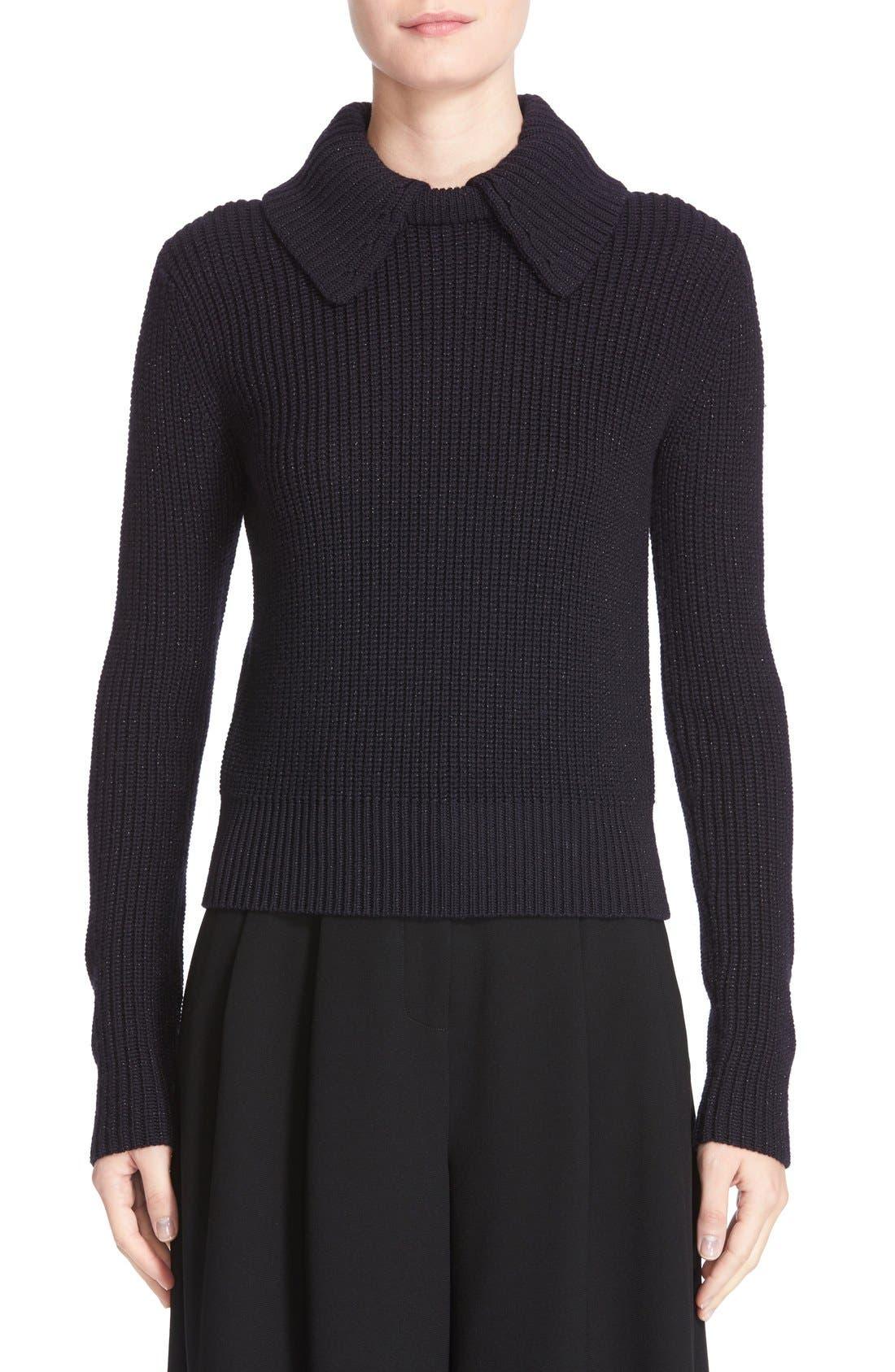 GREY JASON WU Shimmer Merino Wool Blend Sweater