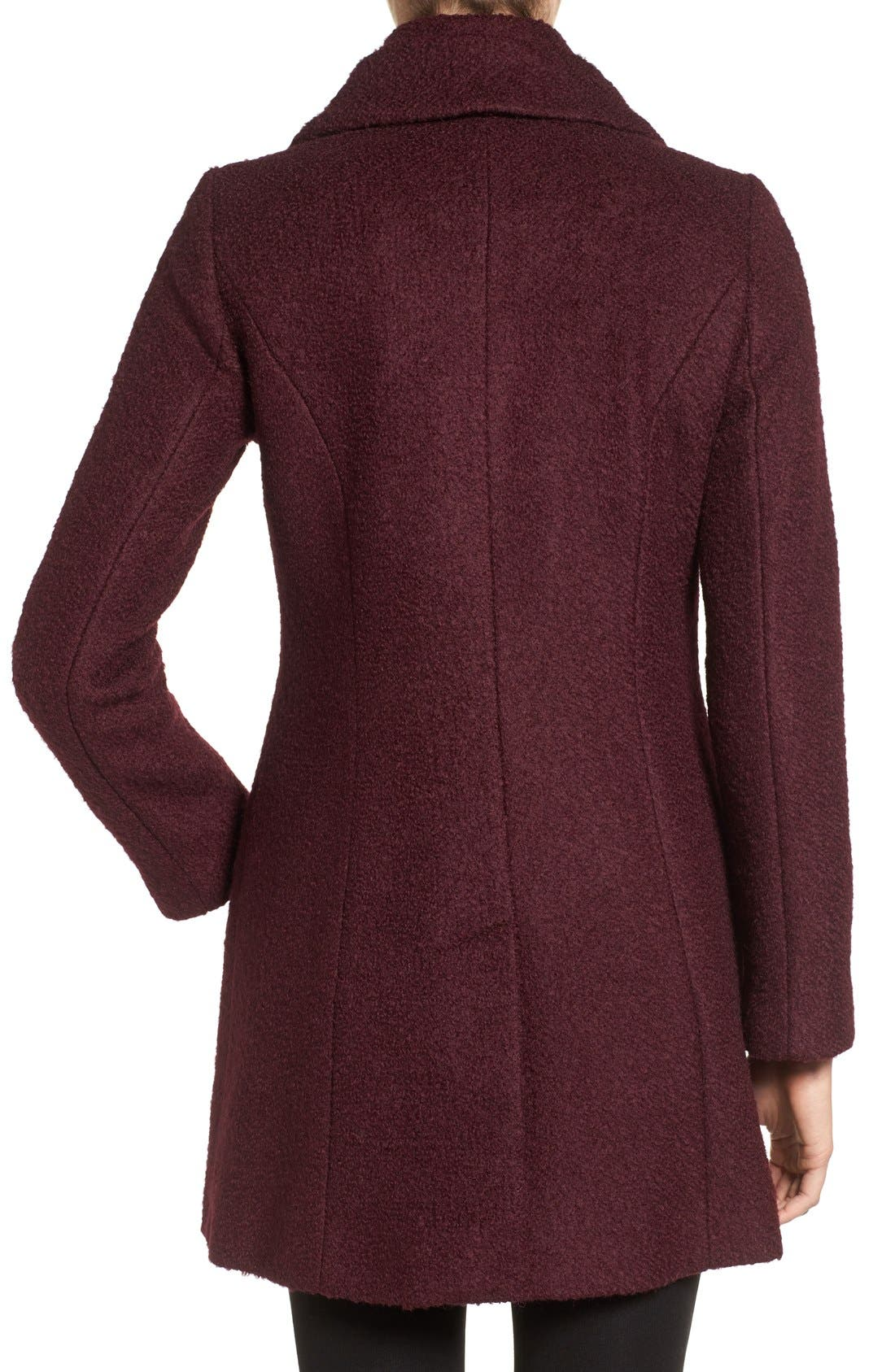 Alternate Image 2  - CeCe Josie Shawl Collar Asymmetrical Bouclé Coat