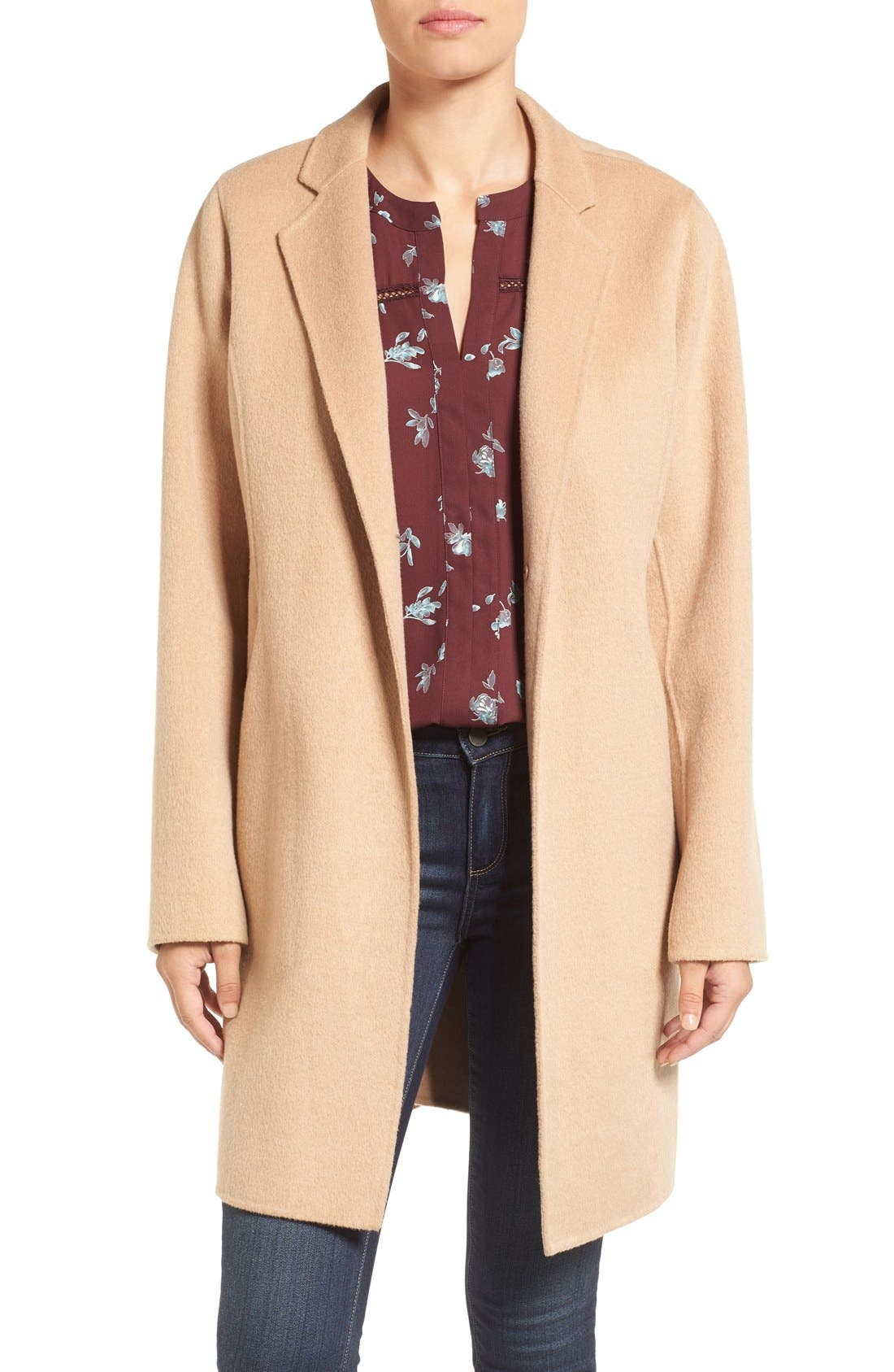 MICHAEL Michael Kors Double Face Wool Blend Coat (Regular & Petite)