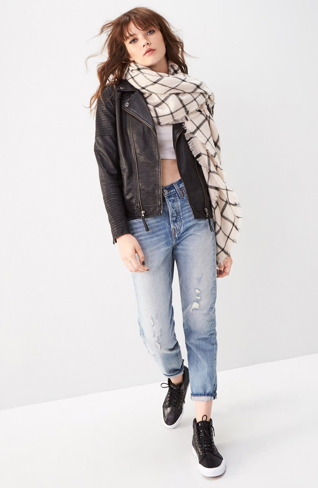 Treasure&Bond Jacket, BP. Tee, Scarf & Levi's® Jeans Outfit with Accessories